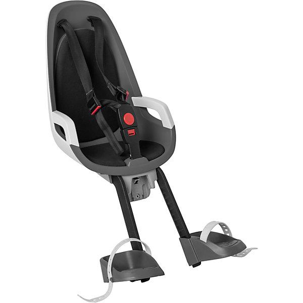 Детское велокресло Caress Observer, Hamax, серый/белый/черныйАксеcсуары для велосипедов<br>Характеристики товара:<br><br>• цвет: серый, белый, черный<br>• возраст: от 9 мес.<br>• ограничение по весу: до 15кг<br>• крепится перед рулем <br>• подходит для рамы велосипеда диаметром от 28 до 40 мм<br>• пояс-пряжка не может быть открыт ребенком<br>• крепёжный кронштейн с замком<br>• опоры для ног регулируются по высоте<br>• материал: полипропилен, текстиль, металл<br>• страна бренда: Польша<br>• вес: 2200гр<br>• размер: 30х66х21см<br>Ширина мм: 300; Глубина мм: 660; Высота мм: 210; Вес г: 2200; Возраст от месяцев: 9; Возраст до месяцев: 48; Пол: Унисекс; Возраст: Детский; SKU: 5582609;
