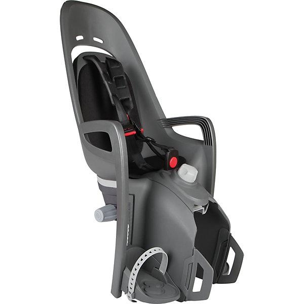 Детское велокресло 2017 Zenith Relax  W/ Carrier Adapter, Hamax, серый-черныйАксеcсуары для велосипедов<br>Характеристики товара:<br><br>• цвет: серый, черный<br>• для детей от 9 месяцев и весом до 22 кг<br>• наличие регулировки угла наклона велокресла в 12,5 градусов <br>• проработанная эргономика кресла для максимально комфортной посадки<br>• 3-точечные ремни безопасности с дополнительным кронштейном для фиксации в районе груди<br>• специальная конструкция пряжек ремней безопасности/фиксации для предотвращения саморастегвания ребенка<br>• полностью соответствующее всем Европейским стандартам безопасности<br>• возможность установить на любом велосипеде как с багажником. Переходник-адаптер в комплекте, докупать отдельно ничего не нужно.<br>• регулируемый ремень безопасности и подножки<br>• регулировка подножек одной рукой<br>• мягкие плечевые пряжки ремней<br>• несущие дуги крепления велокресла обеспечивает отличную амортизацию<br>• подходит для подседельных труб рамы велосипеда диаметром от 28 до 40 мм. (круглые и овальные)<br>• система крепления велокресла не мешает тросам переключения передач<br>• вес: 3740гр.<br>• размер: 37х80х34см<br><br>Отличительные особенности  HAMAX ZENITH RELAX от Hamax ZENITH это наличие регулировки угла наклона кресла в 12,5 градусов.<br><br>Дополнительные мягкие пряжки для фиксации ребенка в кресле обеспечивают надежную фиксацию ребенка в велокресле, позволяя при необходимости совершать резкие маневры и торможения. <br><br>Эргономика велокресла расчитанна так что спинка кресла не будет мешать голове ребенка в моменты когда он хочет откинуться назад кресла в шлеме.<br><br>Все детские велосиденья Hamax растут вместе с ребенком!  Регулируються и ремень безопасности и подножки.<br><br>Детское сиденье для велосипеда очень легко крепится и освобождается от велосипеда. Приобретая дополнительный кронштейн, вы можете легко переставлять детское сиденьес одного велосипеда на другой.<br><br>Материал изготовления: PP - полипропилен ( безопасный и г