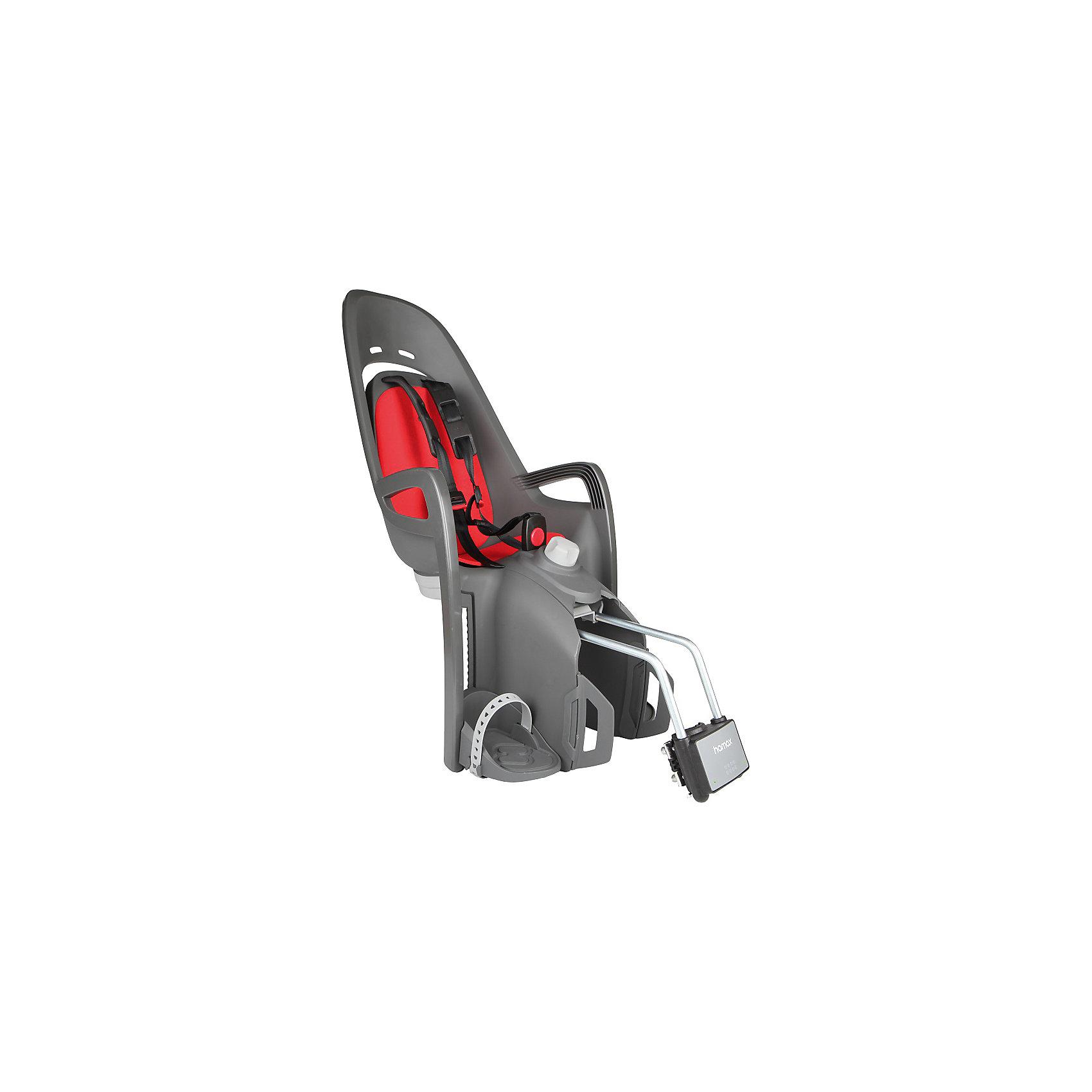 Детское велокресло 2017 Zenith Relax, Hamax, серый-красныйАксеcсуары для велосипедов<br>Характеристики товара:<br><br>• цвет: серый, красный<br>• для детей в возрасте старше 9 месяцев и весом до 22 кг<br>• наличие регулировки угла наклона велокресла в 12,5 градусов <br>• проработанная эргономика кресла для максимально комфортной посадки<br>• 3-точечные ремни безопасности с дополнительным кронштейном для фиксации в районе груди<br>• специальная конструкция пряжек ремней безопасности/фиксации для предотвращения саморастегвания ребенка<br>• возможность установить на любом велосипеде как с багажником, так и без<br>• регулируемый ремень безопасности и подножки<br>• регулировка подножек одной рукой<br>• мягкие плечевые пряжки ремней<br>• несущие дуги крепления велокресла обеспечивает отличную амортизацию<br>• подходит для подседельных труб рамы велосипеда диаметром от 28 до 40 мм. (круглые и овальные)<br>• система крепления велокресла не мешает тросам переключения передач<br>• вес: 3740гр.<br>• размер: 37х80х34см<br><br>Отличительные особенности  HAMAX ZENITH RELAX от Hamax ZENITH это наличие регулировки угла наклона кресла в 12,5 градусов.<br><br>Дополнительные мягкие пряжки для фиксации ребенка в кресле обеспечивают надежную фиксацию ребенка в велокресле, позволяя при необходимости совершать резкие маневры и торможения. <br><br>Эргономика велокресла расчитанна так что спинка кресла не будет мешать голове ребенка в моменты когда он хочет откинуться назад кресла в шлеме.<br><br>Все детские велосиденья Hamax растут вместе с ребенком!  Регулируються и ремень безопасности и подножки.<br><br>Детское сиденье для велосипеда очень легко крепится и освобождается от велосипеда. Приобретая дополнительный кронштейн, вы можете легко переставлять детское сиденьес одного велосипеда на другой.<br><br>Материал изготовления: PP - полипропилен ( безопасный и гипоалергенный ) УФ стабильный - не боится солнечного воздействия.<br><br>Детское велокресло 2017 Zenith Relax, Hamax, серый-красный 