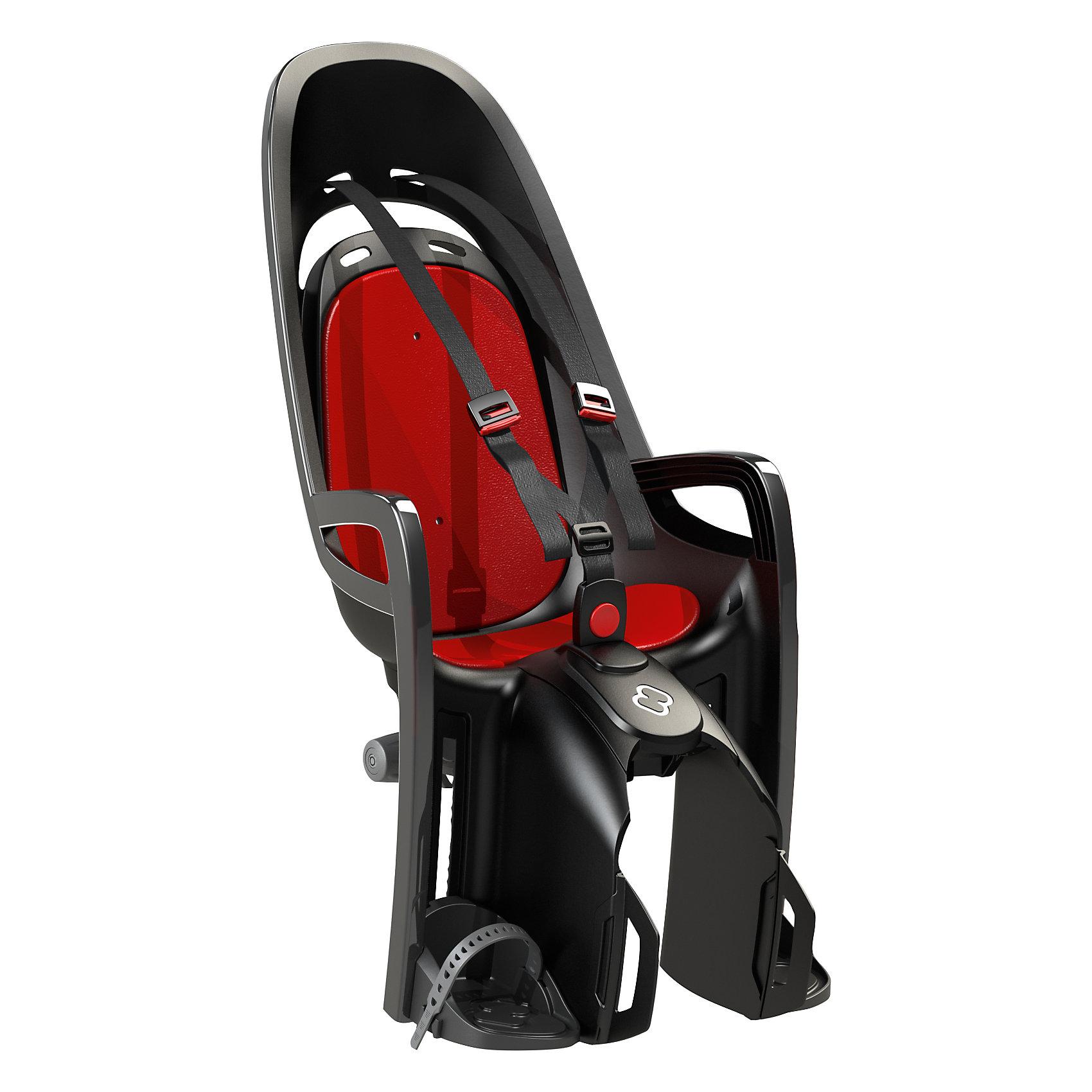 Детское велокресло Caress Zenith W/ Carrier Adapter, Hamax, серый/красныйАксеcсуары для велосипедов<br>Характеристики товара:<br><br>• цвет: серый, красный<br>• запираемый кронштейн крепления.<br>• проработанная эргономика кресла для максимально комфортной посадки<br>• 3-точечные ремни безопасности с дополнительным кронштейном для фиксации в районе груди,и обеспечения ребенку безопасной и удобной посадки.<br>• специальная конструкция пряжек ремней безопасности/фиксации для предотвращения саморастегивания ребенка<br>• простое в использование, полностью соответствующее всем Европейским стандартам безопасности<br>• крепится только  на багажники Hamax (в комплект не входит)<br>• предназначено для детей в возрасте старше 9 месяцев и весом до 22 кг<br>• регулируемый ремень безопасности и подножки<br>• регулировка подножек одной рукой<br>• встроенные отражатели для улучшения видимости кресла<br>• мягкие плечевые пряжки ремней<br>• велокресло сертифицировано по: T?V / GS EN14344<br>• вес: 3550гр.<br>• размер: 37х80х34см<br><br>Мягкие пряжки для фиксации ребенка в кресле очень легкие и комфортные, но при этом обеспечивают надежную фиксацию ребенка в велокресле, позволяя при необходимости совершать резкие маневры и торможения. <br><br>Эргономика велокресла рассчитана так что спинка кресла не будет мешать голове ребенка в моменты когда он хочет откинуться назад кресла в шлеме.<br><br>Механизмы регулировки застежек позволяют комфортно отрегулировать их вместе с ростом ребенка.<br><br>Все детские велосидения Hamax растут вместе с ребенком!  Регулируемые ремень безопасности и подножки.<br><br>Детское сиденье для велосипеда очень легко крепится и освобождается от велосипеда. Приобретая дополнительный кронштейн, вы можете легко переставлять детское сиденье с одного велосипеда на другой.<br><br>Не забудьте: ребенок должен всегда носить шлем при использовании детского сиденья.<br><br>Детское велокресло Caress Zenith W/ Carrier Adapter, Hamax, серый/красный  можно купить в нашем интер