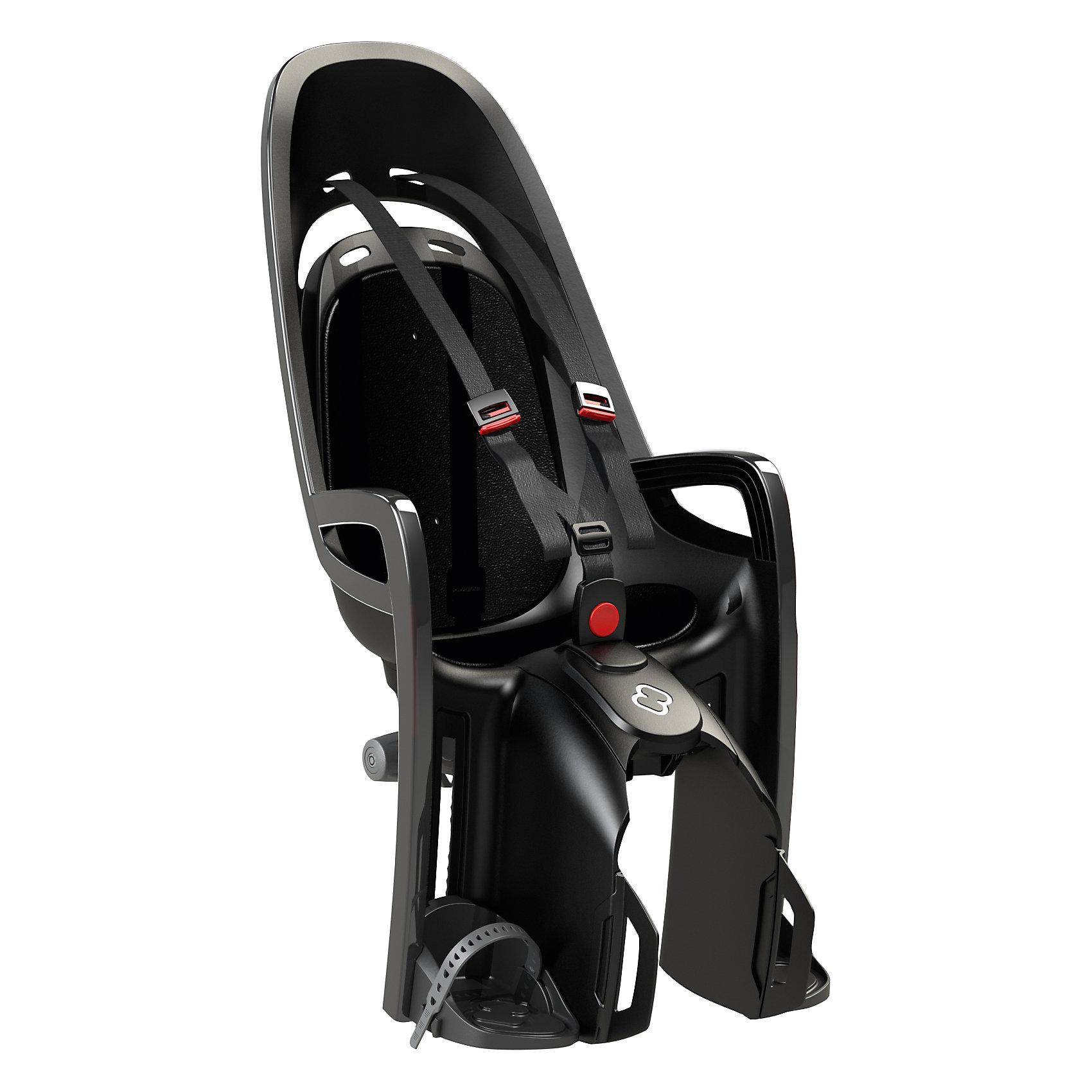 Детское велокресло Caress Zenith W/ Carrier Adapter, Hamax, серый/черныйАксеcсуары для велосипедов<br>Характеристики товара:<br><br>• цвет: серый, черный<br>• запираемый кронштейн крепления.<br>• проработанная эргономика кресла для максимально комфортной посадки<br>• 3-точечные ремни безопасности с дополнительным кронштейном для фиксации в районе груди,и обеспечения ребенку безопасной и удобной посадки.<br>• специальная конструкция пряжек ремней безопасности/фиксации для предотвращения саморастегивания ребенка<br>• простое в использование, полностью соответствующее всем Европейским стандартам безопасности<br>• крепится только  на багажники Hamax (в комплект не входит)<br>• предназначено для детей в возрасте старше 9 месяцев и весом до 22 кг<br>• регулируемый ремень безопасности и подножки<br>• регулировка подножек одной рукой<br>• встроенные отражатели для улучшения видимости кресла<br>• мягкие плечевые пряжки ремней<br>• велокресло сертифицировано по: T?V / GS EN14344<br>• вес: 3550гр.<br>• размер: 37х80х34см<br><br>Мягкие пряжки для фиксации ребенка в кресле очень легкие и комфортные, но при этом обеспечивают надежную фиксацию ребенка в велокресле, позволяя при необходимости совершать резкие маневры и торможения. <br><br>Эргономика велокресла рассчитана так что спинка кресла не будет мешать голове ребенка в моменты когда он хочет откинуться назад кресла в шлеме.<br><br>Механизмы регулировки застежек позволяют комфортно отрегулировать их вместе с ростом ребенка.<br><br>Все детские велосидения Hamax растут вместе с ребенком!  Регулируемые ремень безопасности и подножки.<br><br>Детское сиденье для велосипеда очень легко крепится и освобождается от велосипеда. Приобретая дополнительный кронштейн, вы можете легко переставлять детское сиденье с одного велосипеда на другой.<br><br>Не забудьте: ребенок должен всегда носить шлем при использовании детского сиденья.<br><br>Детское велокресло Caress Zenith W/ Carrier Adapter, Hamax, серый/черный можно купить в нашем интернет-