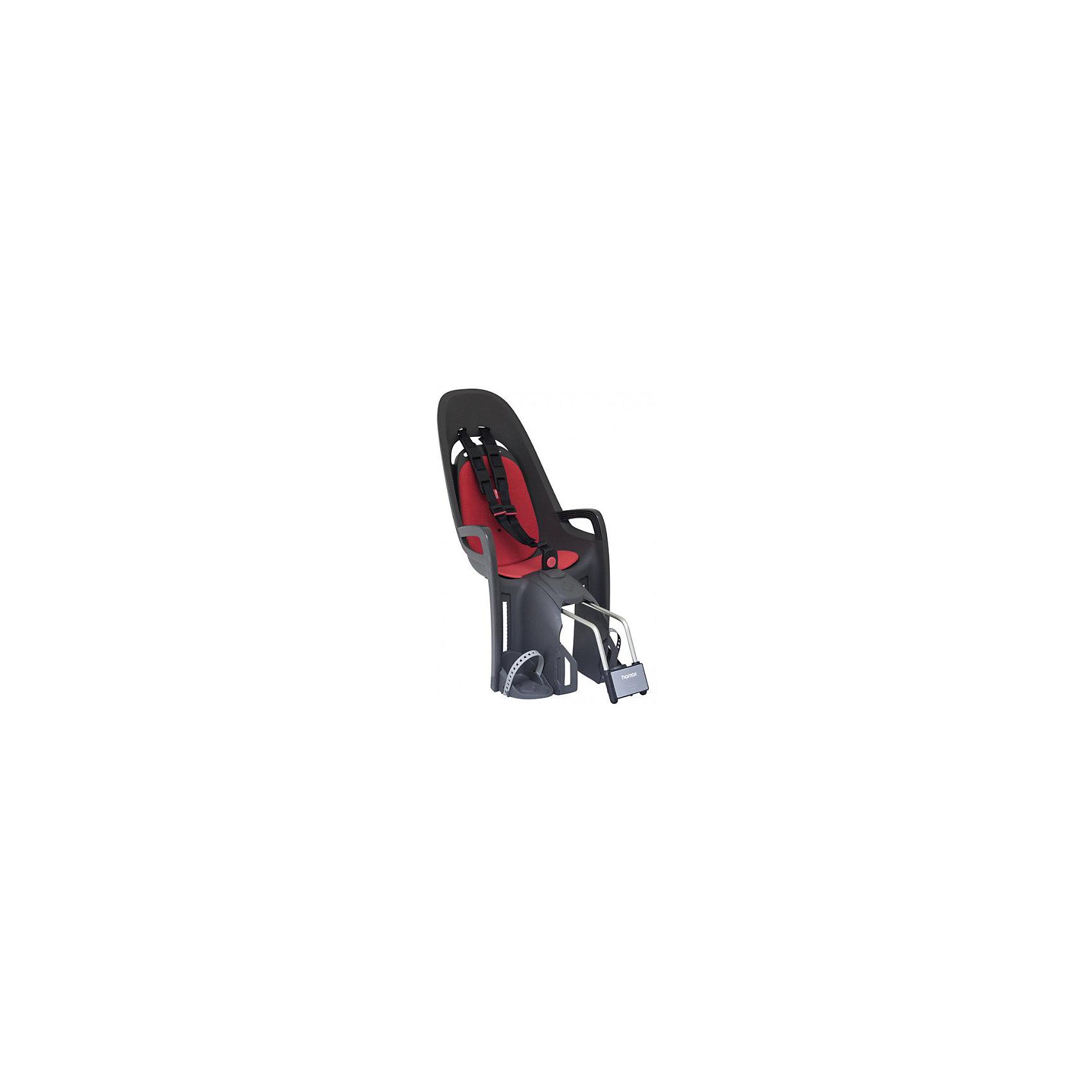 Детское велокресло Caress Zenith, Hamax, серый/красныйАксеcсуары для велосипедов<br>Характеристики товара:<br><br>• цвет: серый, красный<br>• проработанная эргономика кресла для максимально комфортной посадки<br>• 3-точечные ремни безопасности<br>• специальная конструкция пряжек ремней безопасности/фиксации для предотвращения саморастегивания ребенка<br>• простое в использование, полностью соответствующее всем Европейским стандартам безопасности<br>• крепится только  на багажники Hamax (в комплект не входит)<br>• предназначено для детей в возрасте старше 9 месяцев и весом до 22 кг<br>• регулируемый ремень безопасности и подножки<br>• встроенные отражатели для улучшения видимости кресла<br>• мягкие плечевые пряжки ремней<br>• велокресло сертифицировано по: T?V / GS EN14344<br>• вес: 3500гр.<br>• размер: 37х80х34см<br><br>Мягкие пряжки для фиксации ребенка в кресле очень легкие и комфортные, но при этом обеспечивают надежную фиксацию ребенка в велокресле.<br><br>Эргономика велокресла рассчитана так что спинка кресла не будет мешать голове ребенка в моменты когда он хочет откинуться назад кресла в шлеме.<br><br>Механизмы регулировки застежек позволяют комфортно отрегулировать их вместе с ростом ребенка.<br><br>Все детские велосидения Hamax растут вместе с ребенком!  Регулируемые ремень безопасности и подножки.<br><br>Детское сиденье для велосипеда очень легко крепится и освобождается от велосипеда. Приобретая дополнительный кронштейн, вы можете легко переставлять детское сиденье с одного велосипеда на другой.<br><br>Не забудьте: ребенок должен всегда носить шлем при использовании детского сиденья.<br><br>Детское велокресло Caress Zenith, Hamax, серый/красный можно купить в нашем интернет-магазине.<br><br>Ширина мм: 370<br>Глубина мм: 800<br>Высота мм: 340<br>Вес г: 3500<br>Возраст от месяцев: 9<br>Возраст до месяцев: 48<br>Пол: Унисекс<br>Возраст: Детский<br>SKU: 5582616