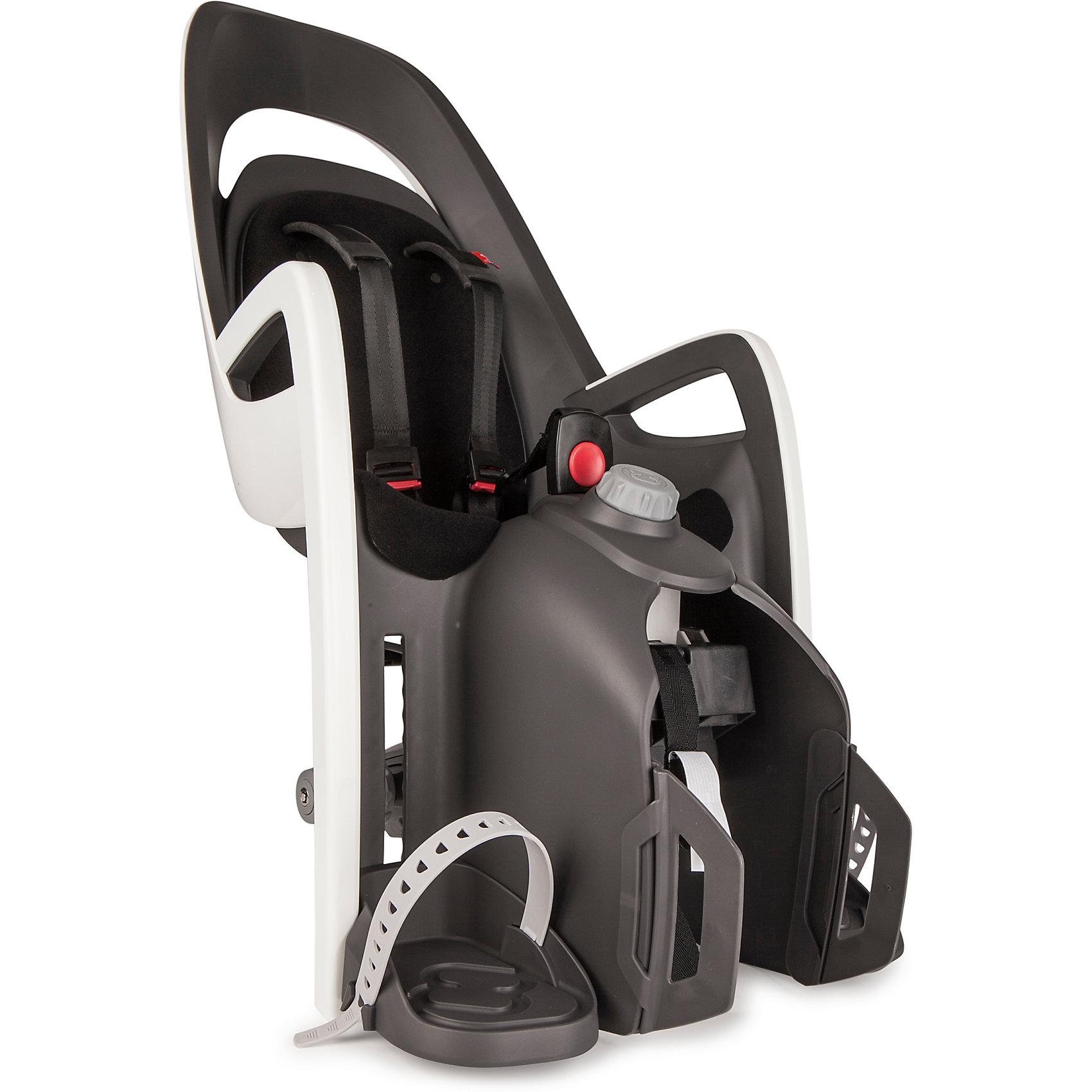 Детское велокресло Caress W/Carrier Adapter, Hamax, серый/белый/черныйАксеcсуары для велосипедов<br>Характеристики товара:<br><br>• цвет: серый, белый, черный<br>• проработанная эргономика кресла для максимально комфортной посадки<br>• 3-точечные ремни безопасности<br>• специальная конструкция пряжек ремней безопасности/фиксации для предотвращения саморастегивания ребенка<br>• простое в использование, полностью соответствующее всем Европейским стандартам безопасности<br>• адаптер для установки в комплекте<br>• режим сон<br>• предназначено для детей в возрасте старше 9 месяцев и весом до 30 кг<br>• регулируемый ремень безопасности и подножки<br>• встроенные отражатели для улучшения видимости кресла<br>• мягкие плечевые пряжки ремней<br>• вес: 5150гр.<br>• размер: 37х94х28см<br>• страна бренда: Польша<br><br>Мягкие пряжки для фиксации ребенка в кресле очень легкие и комфортные, но при этом обеспечивают надежную фиксацию ребенка в велокресле.<br><br>Эргономика велокресла рассчитана так что спинка кресла не будет мешать голове ребенка в моменты когда он хочет откинуться назад кресла в шлеме.<br><br>Механизмы регулировки застежек позволяют комфортно отрегулировать их вместе с ростом ребенка.<br><br>Все детские велосидения Hamax растут вместе с ребенком!  Регулируемые ремень безопасности и подножки.<br><br>Не забудьте: ребенок должен всегда носить шлем при использовании детского сиденья.<br><br>Детское велокресло Caress W/Carrier Adapter, Hamax, серый/белый/черный можно купить в нашем интернет-магазине.<br><br>Ширина мм: 365<br>Глубина мм: 940<br>Высота мм: 280<br>Вес г: 5150<br>Возраст от месяцев: 9<br>Возраст до месяцев: 48<br>Пол: Унисекс<br>Возраст: Детский<br>SKU: 5582619