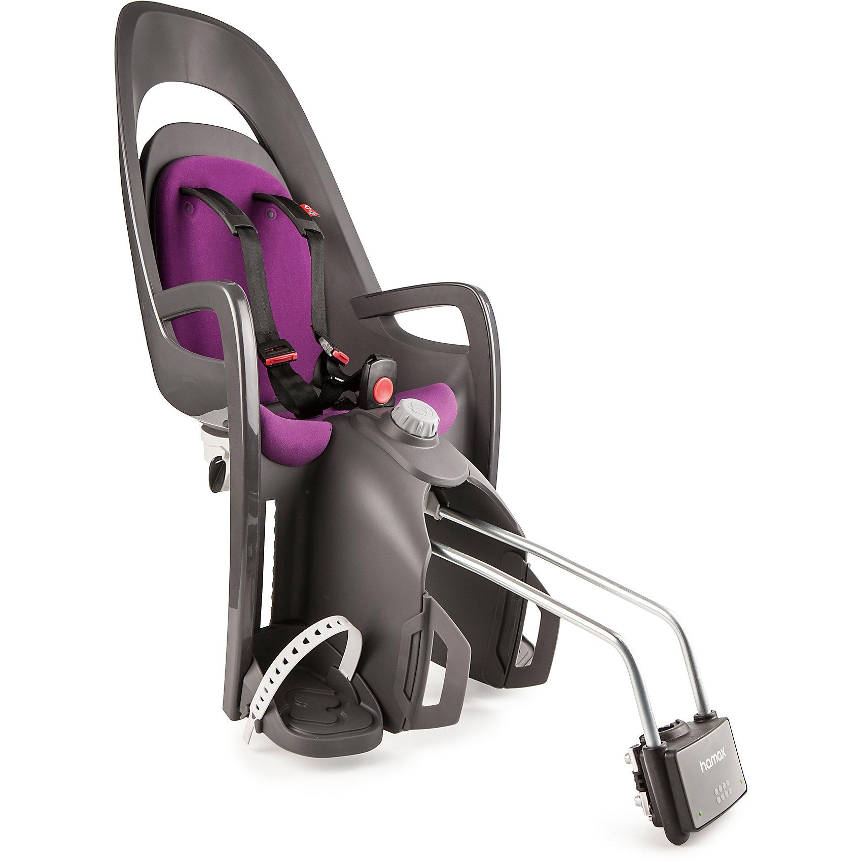 Детское велокресло Caress W/lockable Bracket, Hamax, серый/фиолетовыйАксеcсуары для велосипедов<br>Характеристики товара:<br><br>• цвет: серый, фиолетовый<br>• спинка настраивается по высоте <br>• наклон изменяется в положение сон на 20? <br>• мягкая внутренняя обивка <br>• новая система подножек регулируется одной рукой <br>• новая система ремней безопасности с плечевыми подушечками <br>для облегчения подгонки и большего комфорта <br>• задние светоотражатели для большей безопасности на дорогах <br>• возможность монтажа на велосипед у которого нет багажника <br>• максимальная нагрузка 22 кг. Перевозка детей младше 9 месяцев не рекомендуется. <br>• надёжность и простота подгонки <br>• запирающийся крепёжный кронштейн <br>• страна бренда: Польша<br>• размер: 38,1 x 95 x 29,6 см. <br>• вес: 4,6 кг.<br><br>В модели Caress всё по высшему разряду, и внешний вид, и уровень комфорта. <br><br>Элегантные и современные линии, двусторонний и двухцветный каркас, внутренняя обивка - все эти элементы придают дизайну сиденья особую завершённость.<br><br>Детское велокресло Caress W/lockable Bracket, Hamax, серый/фиолетовый можно купить в нашем интернет-магазине.<br><br>Ширина мм: 365<br>Глубина мм: 940<br>Высота мм: 280<br>Вес г: 5000<br>Возраст от месяцев: 9<br>Возраст до месяцев: 48<br>Пол: Унисекс<br>Возраст: Детский<br>SKU: 5582620