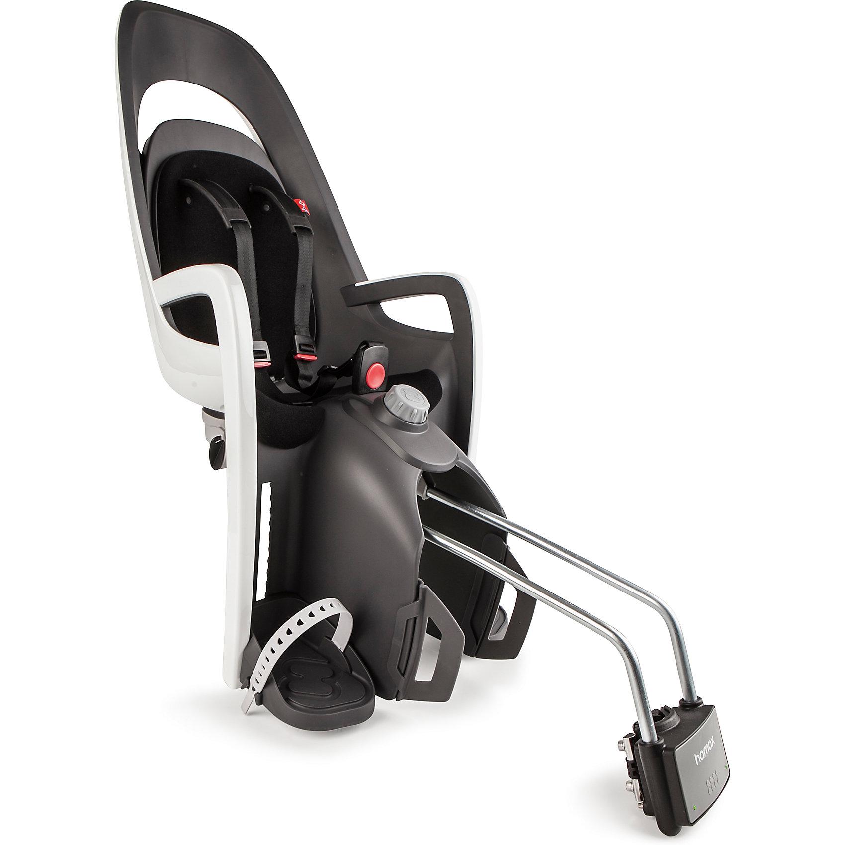 Детское велокресло Caress W/lockable Bracket, Hamax, серый/белый/черныйАксеcсуары для велосипедов<br>Характеристики товара:<br><br>• цвет: серый, белый, черный<br>• спинка настраивается по высоте <br>• наклон изменяется в положение сон на 20? <br>• мягкая внутренняя обивка <br>• новая система подножек регулируется одной рукой <br>• новая система ремней безопасности с плечевыми подушечками <br>для облегчения подгонки и большего комфорта <br>• задние светоотражатели для большей безопасности на дорогах <br>• возможность монтажа на велосипед у которого нет багажника <br>• максимальная нагрузка 22 кг. Перевозка детей младше 9 месяцев не рекомендуется. <br>• надёжность и простота подгонки <br>• запирающийся крепёжный кронштейн <br>• страна бренда: Польша<br>• размер: 38,1 x 95 x 29,6 см. <br>• вес: 4,6 кг.<br><br>В модели Caress всё по высшему разряду, и внешний вид, и уровень комфорта. <br><br>Элегантные и современные линии, двусторонний и двухцветный каркас, внутренняя обивка - все эти элементы придают дизайну сиденья особую завершённость.<br><br>Детское велокресло Caress W/lockable Bracket, Hamax, серый/белый/черный можно купить в нашем интернет-магазине.<br><br>Ширина мм: 365<br>Глубина мм: 940<br>Высота мм: 280<br>Вес г: 5000<br>Возраст от месяцев: 9<br>Возраст до месяцев: 48<br>Пол: Унисекс<br>Возраст: Детский<br>SKU: 5582621