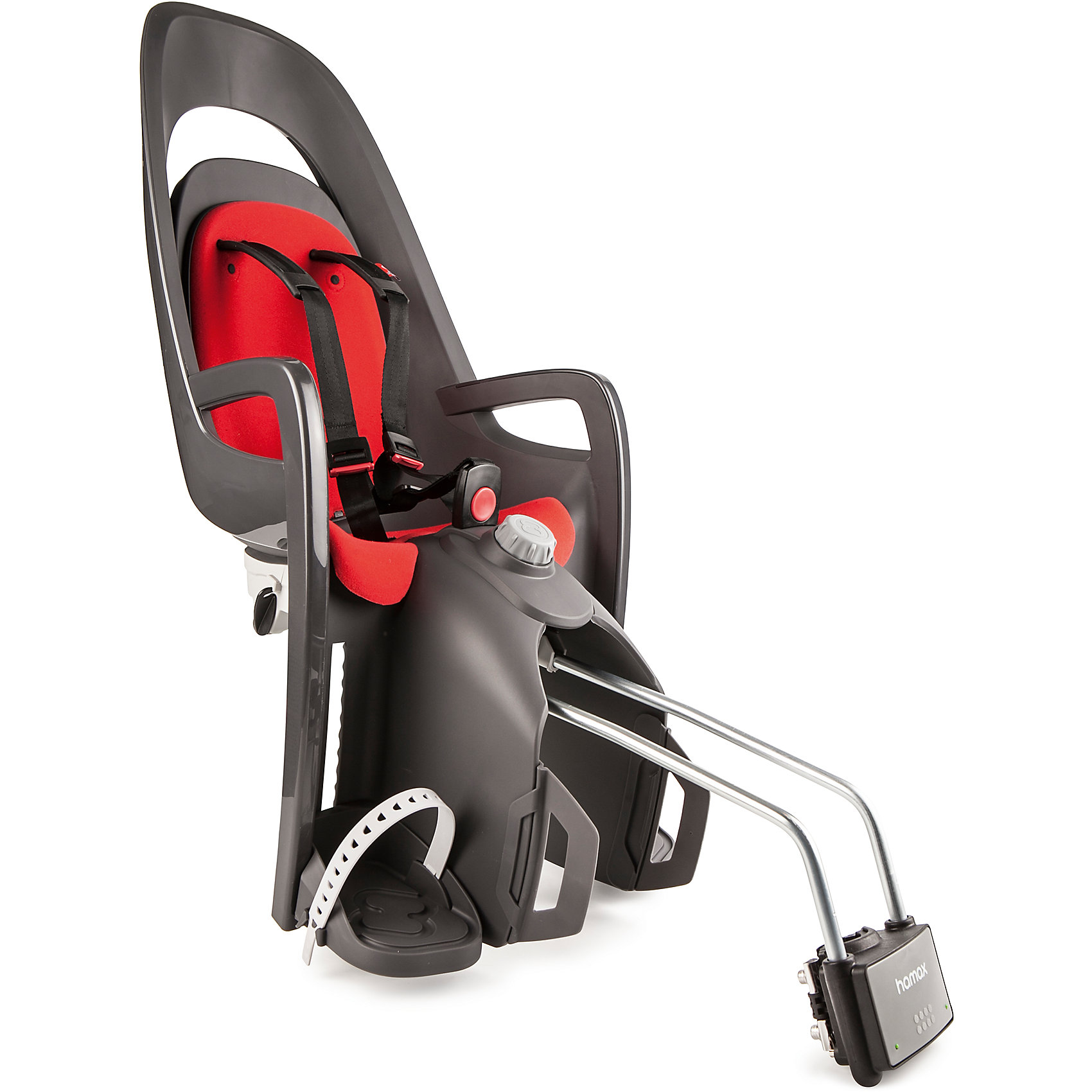 Детское велокресло Caress W/lockable Bracket, Hamax, серый/красныйАксеcсуары для велосипедов<br>Характеристики товара:<br><br>• цвет: серый, красный<br>• спинка настраивается по высоте <br>• наклон изменяется в положение сон на 20? <br>• мягкая внутренняя обивка <br>• новая система подножек регулируется одной рукой <br>• новая система ремней безопасности с плечевыми подушечками <br>для облегчения подгонки и большего комфорта <br>• задние светоотражатели для большей безопасности на дорогах <br>• возможность монтажа на велосипед у которого нет багажника <br>• максимальная нагрузка 22 кг. Перевозка детей младше 9 месяцев не рекомендуется. <br>• надёжность и простота подгонки <br>• запирающийся крепёжный кронштейн <br>• страна бренда: Польша<br>• размер: 38,1 x 95 x 29,6 см. <br>• вес: 4,6 кг.<br><br>В модели Caress всё по высшему разряду, и внешний вид, и уровень комфорта. <br><br>Элегантные и современные линии, двусторонний и двухцветный каркас, внутренняя обивка - все эти элементы придают дизайну сиденья особую завершённость.<br><br>Детское велокресло Caress W/lockable Bracket, Hamax, серый/красный можно купить в нашем интернет-магазине.<br><br>Ширина мм: 365<br>Глубина мм: 940<br>Высота мм: 280<br>Вес г: 5000<br>Возраст от месяцев: 9<br>Возраст до месяцев: 48<br>Пол: Унисекс<br>Возраст: Детский<br>SKU: 5582623