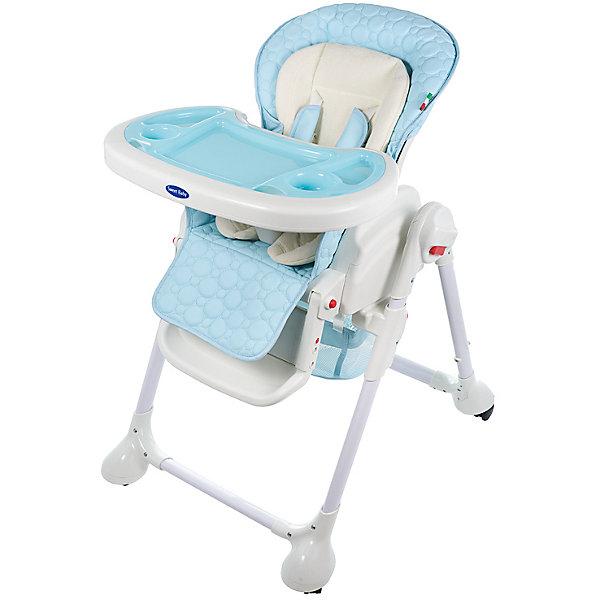 Стульчик для кормления Luxor Classic, Sweet Baby, BluСтульчики для кормления<br>Характеристика товара:<br><br>• цвет: Blu (голубой)<br>• используется в качестве стульчика для кормления или шезлонга для сна<br>• наклон спинки регулируется, устанавливается в горизонтальное положение<br>• регулируемая по высоте спинка (5 уровней)<br>• угол наклона спинки регулируется (3 положения)<br>• регулируемая длина подножки (3 уровня)<br>• чехол из экокожи<br>• вкладыш из мягкой гипоаллергенной ткани, который легко снимается<br>• сетчато-текстильная корзина для аксессуаров<br>• 5-точечные ремни безопасности с надежным замком и мягкими накладками<br>• 3 позиции глубины и высоты подноса<br>• съемная верхняя накладка на поднос и 2 углубления для посуды<br>• 4 колеса со стоперами<br>• компактные размеры и устойчивость в сложенном виде<br>• возраст: от 0 месяцев<br>• материал рамы: металл, пластик<br>• страна производства: Китай<br>• вес: 15 кг<br>• размер упаковки: 91х30х65 см<br><br>Стульчик для кормления Sweet Baby Luxor Classic с уникальной функцией –<br>ручным механизмом качания!<br><br>Компактный стульчик для кормления теперь может быть и кроваткой – Вы сможете заняться любым делом, параллельно убаюкивая своего малыша.<br><br>Стульчик легко перемещается, а это значит, что Вы сможете убаюкать крошку там, где Вам удобно.<br><br>Стульчик для кормления Luxor Classic, Sweet Baby, Blu можно купить в нашем интернет-магазине.<br>Ширина мм: 640; Глубина мм: 910; Высота мм: 300; Вес г: 17400; Возраст от месяцев: 0; Возраст до месяцев: 36; Пол: Унисекс; Возраст: Детский; SKU: 5583540;