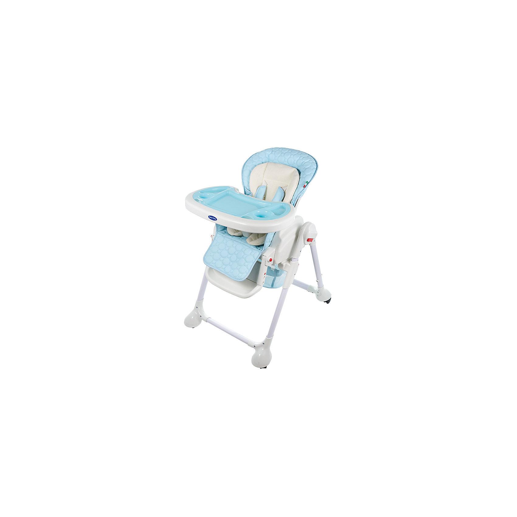 Стульчик для кормления Luxor Classic, Sweet Baby, Bluот рождения<br>Характеристика товара:<br><br>• цвет: Blu (голубой)<br>• используется в качестве стульчика для кормления или шезлонга для сна<br>• наклон спинки регулируется, устанавливается в горизонтальное положение<br>• регулируемая по высоте спинка (5 уровней)<br>• угол наклона спинки регулируется (3 положения)<br>• регулируемая длина подножки (3 уровня)<br>• чехол из экокожи<br>• вкладыш из мягкой гипоаллергенной ткани, который легко снимается<br>• сетчато-текстильная корзина для аксессуаров<br>• 5-точечные ремни безопасности с надежным замком и мягкими накладками<br>• 3 позиции глубины и высоты подноса<br>• съемная верхняя накладка на поднос и 2 углубления для посуды<br>• 4 колеса со стоперами<br>• компактные размеры и устойчивость в сложенном виде<br>• возраст: от 0 месяцев<br>• материал рамы: металл, пластик<br>• страна производства: Китай<br>• вес: 15 кг<br>• размер упаковки: 91х30х65 см<br><br>Стульчик для кормления Sweet Baby Luxor Classic с уникальной функцией –<br>ручным механизмом качания!<br><br>Компактный стульчик для кормления теперь может быть и кроваткой – Вы сможете заняться любым делом, параллельно убаюкивая своего малыша.<br><br>Стульчик легко перемещается, а это значит, что Вы сможете убаюкать крошку там, где Вам удобно.<br><br>Стульчик для кормления Luxor Classic, Sweet Baby, Blu можно купить в нашем интернет-магазине.<br><br>Ширина мм: 640<br>Глубина мм: 910<br>Высота мм: 300<br>Вес г: 17400<br>Возраст от месяцев: 0<br>Возраст до месяцев: 36<br>Пол: Унисекс<br>Возраст: Детский<br>SKU: 5583540