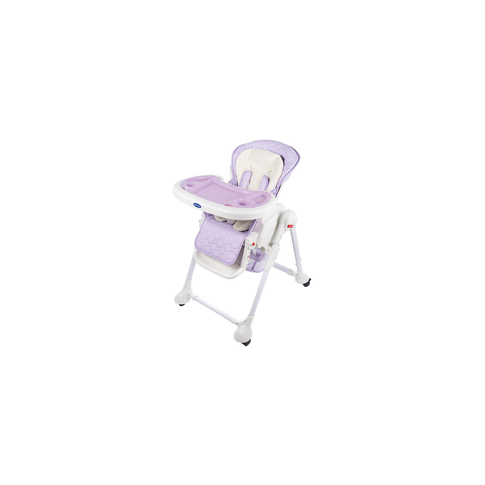 Стульчик для кормления Luxor Classic, Sweet Baby, Lillaот рождения<br>Характеристика товара:<br><br>• цвет: Lilla (сиреневый)<br>• используется в качестве стульчика для кормления или шезлонга для сна<br>• наклон спинки регулируется, устанавливается в горизонтальное положение<br>• регулируемая по высоте спинка (5 уровней)<br>• угол наклона спинки регулируется (3 положения)<br>• регулируемая длина подножки (3 уровня)<br>• чехол из экокожи<br>• вкладыш из мягкой гипоаллергенной ткани, который легко снимается<br>• сетчато-текстильная корзина для аксессуаров<br>• 5-точечные ремни безопасности с надежным замком и мягкими накладками<br>• 3 позиции глубины и высоты подноса<br>• съемная верхняя накладка на поднос и 2 углубления для посуды<br>• 4 колеса со стоперами<br>• компактные размеры и устойчивость в сложенном виде<br>• возраст: от 0 месяцев<br>• материал рамы: металл, пластик<br>• страна производства: Китай<br>• вес: 15 кг<br>• размер упаковки: 91х30х65 см<br><br>Стульчик для кормления Sweet Baby Luxor Classic с уникальной функцией –<br>ручным механизмом качания!<br><br>Компактный стульчик для кормления теперь может быть и кроваткой – Вы сможете заняться любым делом, параллельно убаюкивая своего малыша.<br><br>Стульчик легко перемещается, а это значит, что Вы сможете убаюкать крошку там, где Вам удобно.<br><br>Стульчик для кормления Luxor Classic, Sweet Baby, Lilla можно купить в нашем интернет-магазине.<br><br>Ширина мм: 640<br>Глубина мм: 910<br>Высота мм: 300<br>Вес г: 17400<br>Возраст от месяцев: 0<br>Возраст до месяцев: 36<br>Пол: Унисекс<br>Возраст: Детский<br>SKU: 5583541