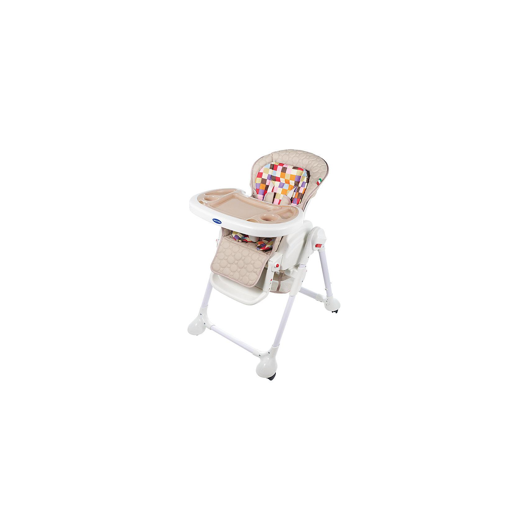 Стульчик для кормления Luxor Multicolor, Sweet Baby, Beigeот рождения<br>Характеристика товара:<br><br>• цвет: Beige (бежевый)<br>• используется в качестве стульчика для кормления или шезлонга для сна<br>• наклон спинки регулируется, устанавливается в горизонтальное положение<br>• регулируемая по высоте спинка (5 уровней)<br>• угол наклона спинки регулируется (3 положения)<br>• регулируемая длина подножки (3 уровня)<br>• чехол из экокожи<br>• яркий вкладыш из мягкой гипоаллергенной ткани (снимается)<br>• сетчато-текстильная корзина для аксессуаров<br>• 5-точечные ремни безопасности с надежным замком и мягкими накладками<br>• 3 позиции глубины и высоты подноса<br>• съемная верхняя накладка на поднос и 2 углубления для посуды<br>• 4 колеса со стоперами<br>• компактные размеры и устойчивость в сложенном виде<br>• возраст: от 0 месяцев<br>• материал рамы: металл, пластик<br>• страна производства: Китай<br>• вес: 15 кг<br>• размер упаковки: 91х30х65 см<br><br>Стульчик для кормления Luxor Multicolor Sweet Baby с уникальной функцией –<br>ручным механизмом качания!<br><br>Компактный стульчик для кормления теперь может быть и кроваткой – Вы сможете заняться любым делом, параллельно убаюкивая своего малыша.<br><br>Стульчик легко перемещается, а это значит, что Вы сможете убаюкать крошку там, где Вам удобно.<br><br>Стульчик для кормления Luxor Multicolor, Sweet Baby, Beige можно купить в нашем интернет-магазине.<br><br>Ширина мм: 640<br>Глубина мм: 910<br>Высота мм: 300<br>Вес г: 17400<br>Возраст от месяцев: 0<br>Возраст до месяцев: 36<br>Пол: Унисекс<br>Возраст: Детский<br>SKU: 5583544