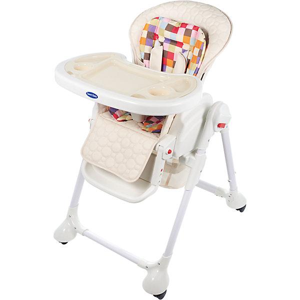 Стульчик для кормления Luxor Multicolor, Sweet Baby, CreamСтульчики для кормления с 0 месяцев<br>Характеристика товара:<br><br>• цвет: Cream (кремовый)<br>• используется в качестве стульчика для кормления или шезлонга для сна<br>• наклон спинки регулируется, устанавливается в горизонтальное положение<br>• регулируемая по высоте спинка (5 уровней)<br>• угол наклона спинки регулируется (3 положения)<br>• регулируемая длина подножки (3 уровня)<br>• чехол из экокожи<br>• яркий вкладыш из мягкой гипоаллергенной ткани (снимается)<br>• сетчато-текстильная корзина для аксессуаров<br>• 5-точечные ремни безопасности с надежным замком и мягкими накладками<br>• 3 позиции глубины и высоты подноса<br>• съемная верхняя накладка на поднос и 2 углубления для посуды<br>• 4 колеса со стоперами<br>• компактные размеры и устойчивость в сложенном виде<br>• возраст: от 0 месяцев<br>• материал рамы: металл, пластик<br>• страна производства: Китай<br>• вес: 15 кг<br>• размер упаковки: 91х30х65 см<br><br>Стульчик для кормления Luxor Multicolor Sweet Baby с уникальной функцией –<br>ручным механизмом качания!<br><br>Компактный стульчик для кормления теперь может быть и кроваткой – Вы сможете заняться любым делом, параллельно убаюкивая своего малыша.<br><br>Стульчик легко перемещается, а это значит, что Вы сможете убаюкать крошку там, где Вам удобно.<br><br>Стульчик для кормления Luxor Multicolor, Sweet Baby, Cream можно купить в нашем интернет-магазине.<br><br>Ширина мм: 640<br>Глубина мм: 910<br>Высота мм: 300<br>Вес г: 17400<br>Возраст от месяцев: 0<br>Возраст до месяцев: 36<br>Пол: Унисекс<br>Возраст: Детский<br>SKU: 5583546