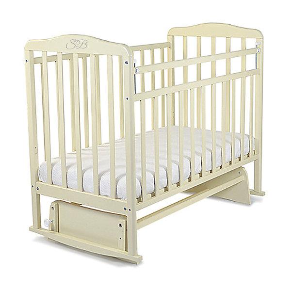 Кроватка Sweet Baby Ennio Cammello, бежевыйДетские кроватки<br>Характеристики товара:<br><br>• цвет: бежевый<br>• с поперечным маятником<br>• фиксатор покоя<br>• материал: дерево<br>• полозья для качания<br>• размер спального места: 120х60 см<br>• 2 уровня ложа<br><br>Итальянский бренд Sweet Baby позаботился о комфортном сне вашего малыша благодаря плавному механизму качания поперечного маятника . <br>Кроватка оснащена специальными фиксаторами, которые приводят маятник в состояние покоя.<br>Два уровня ложа позволяют менять глубину кроватки по мере роста малыша, опускаемая планка поможет без труда дотянуться до малыша в кроватке.Расстояние между рейками не дает возможность ребенку застрять между ними во время сна.<br>Детская кровать Sweet Baby Ennio изготовлена из древесины березы, прочного и долговечного материала. <br>Кроватки для новорожденных SweetBaby обрабатываются нетоксичными лаками и красками, абсолютно безвредными для ребенка.<br><br>Кроватку Ennio Cammello, Sweet Baby можно купить в нашем интернет-магазине.<br><br>Ширина мм: 720<br>Глубина мм: 150<br>Высота мм: 1240<br>Вес г: 20000<br>Цвет: бежевый<br>Возраст от месяцев: 0<br>Возраст до месяцев: 36<br>Пол: Унисекс<br>Возраст: Детский<br>SKU: 5583560