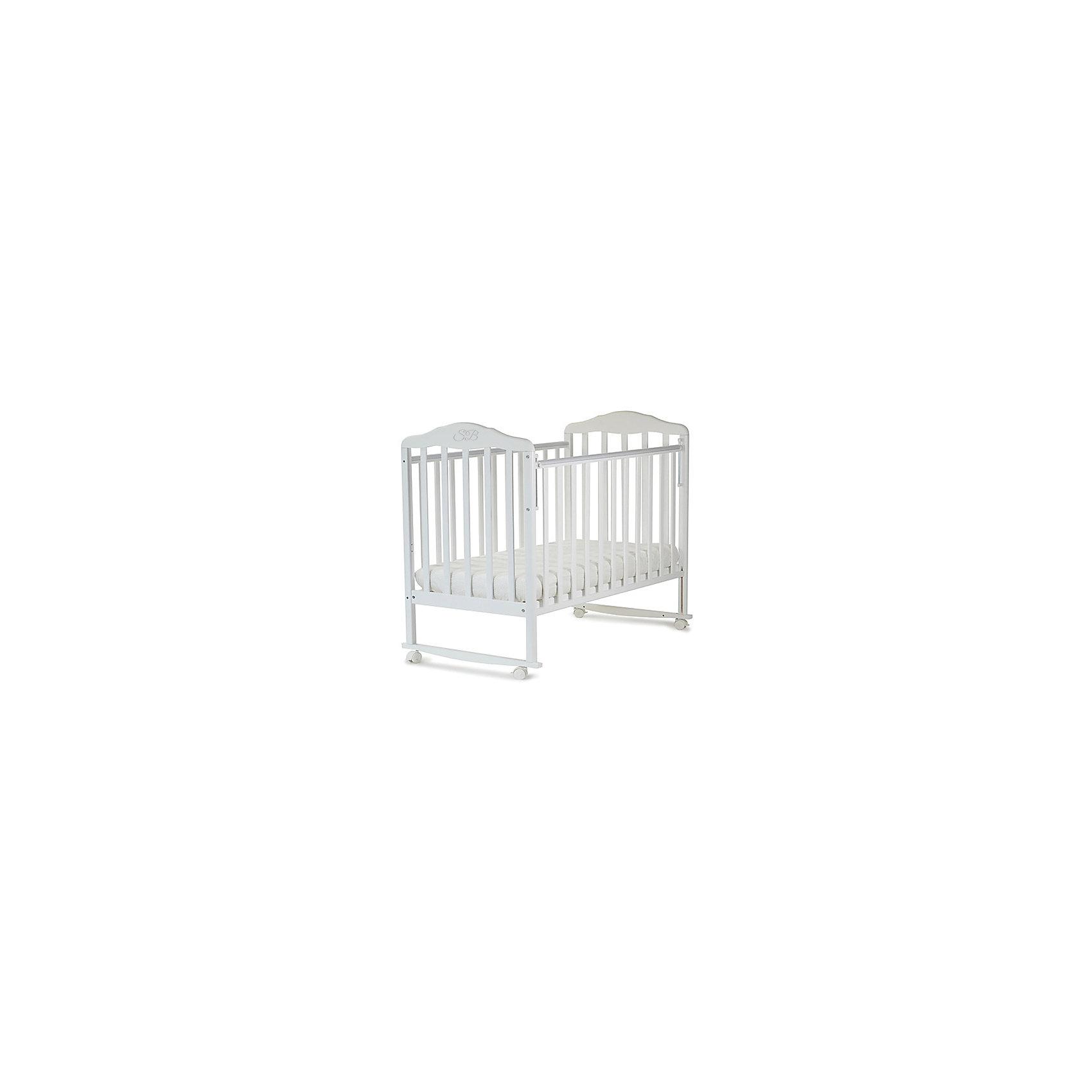Кроватка Lorenzo Bianco, Sweet Baby, белый<br><br>Ширина мм: 710<br>Глубина мм: 150<br>Высота мм: 1240<br>Вес г: 19000<br>Возраст от месяцев: 0<br>Возраст до месяцев: 36<br>Пол: Унисекс<br>Возраст: Детский<br>SKU: 5583568