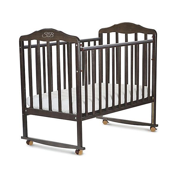 Кроватка Sweet Baby Lorenzo Wenge, ВенгеДетские кроватки<br>Характеристики товара:<br><br>• цвет: венге<br>• колесики<br>• материал: дерево<br>• силиконовые накладки на бортики<br>• полозья для качания<br>• размер спального места: 120х60 см<br>• 2 уровня ложа<br><br>Кроватку Sweet Baby Lorenzo с комплектацией колёсо/качалка можно использовать в одном из 2-х вариантов – на качалке или прикрутить колёсики.<br><br>Округлые формы деталей не позволят Вашему малышу удариться, а передняя стенка особенно надежна и долговечна благодаря тому, что подвижна только верхняя планка.<br><br>Два уровня ложа позволяют менять глубину кроватки по мере роста малыша, опускаемая планка поможет без труда дотянуться до малыша в кроватке.<br><br>Расстояние между рейками не дает возможность ребенку застрять между ними во время сна.<br><br>Детская кровать Sweet Baby Lorenzo изготовлена из древесины березы, прочного и долговечного материала. <br><br>Кроватки для новорожденных SweetBaby обрабатываются нетоксичными лаками и красками, абсолютно безвредными для ребенка.<br><br>Кроватку Lorenzo Wenge, Sweet Baby можно купить в нашем интернет-магазине.<br><br>Ширина мм: 710<br>Глубина мм: 150<br>Высота мм: 1240<br>Вес г: 19000<br>Возраст от месяцев: 0<br>Возраст до месяцев: 36<br>Пол: Унисекс<br>Возраст: Детский<br>SKU: 5583571