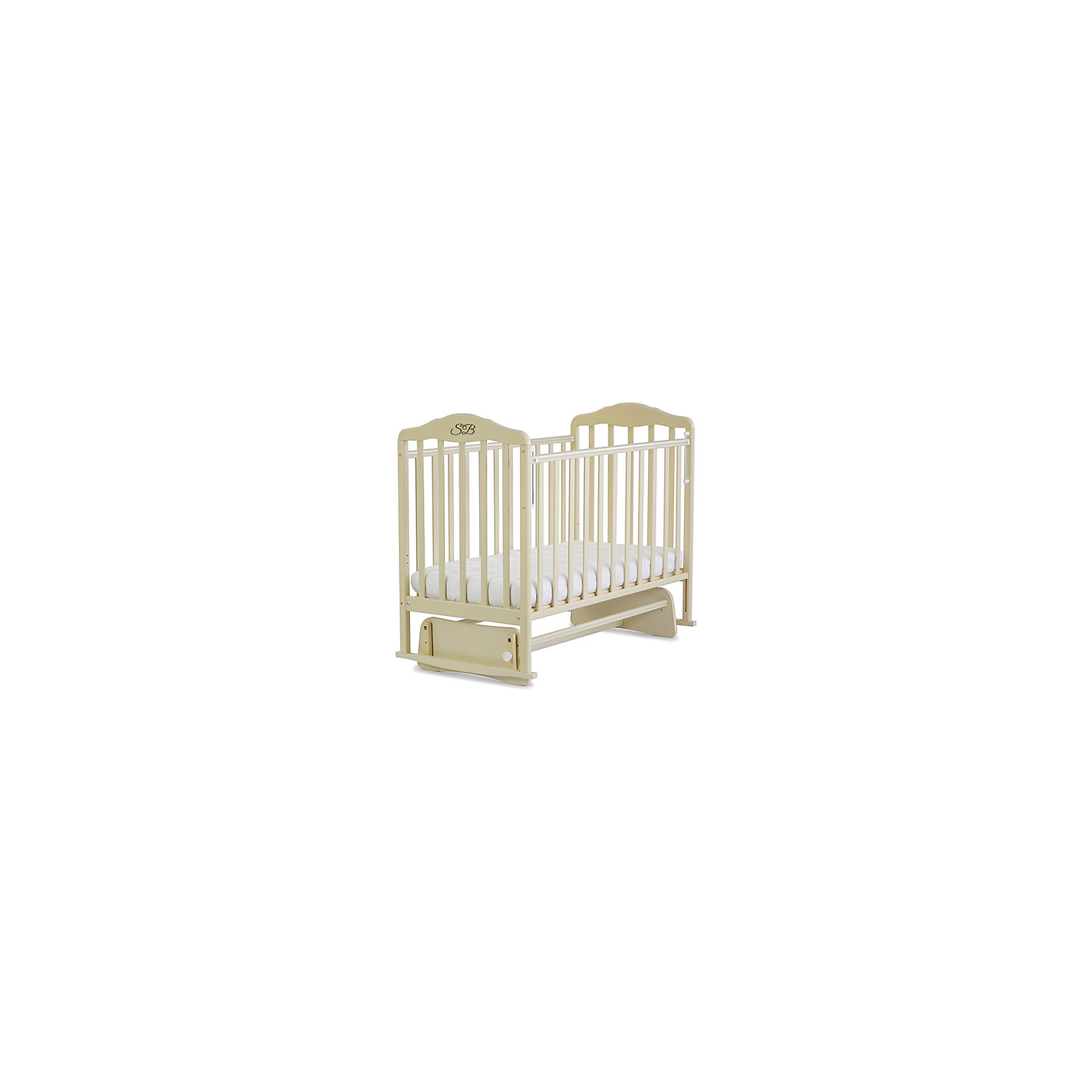 Кроватка Luigi Avorio, Sweet Baby, слоновая костьКроватки<br>Характеристики товара:<br><br>• цвет: слоновая кость<br>• с поперечным маятником<br>• фиксатор покоя<br>• материал: массив дерева/ЛДСП<br>• полозья для качания<br>• размер спального места: 120х60 см<br>• 2 уровня ложа<br>• силиконовые накладки на бортиках<br>• размер кроватки (ШхДхВ): 72х125х115см.<br><br>Итальянский бренд Sweet Baby позаботился о комфортном сне вашего малыша благодаря плавному механизму качания поперечного маятника . <br>Кроватка оснащена специальными фиксаторами, которые приводят маятник в состояние покоя.<br><br>Два уровня ложа позволяют менять глубину кроватки по мере роста малыша, опускаемая планка поможет без труда дотянуться до малыша в кроватке.Расстояние между рейками не дает возможность ребенку застрять между ними во время сна.<br><br>На бортиках кроватки есть специальные силиконовые накладки, их основной функцией является защита вашего ребенка во время прорезания зубов.<br><br>Кроватки для новорожденных SweetBaby обрабатываются нетоксичными лаками и красками, абсолютно безвредными для ребенка.<br><br>Кроватку Luigi Avorio, Sweet Baby можно купить в нашем интернет-магазине.<br><br>Ширина мм: 710<br>Глубина мм: 150<br>Высота мм: 1240<br>Вес г: 20000<br>Возраст от месяцев: 0<br>Возраст до месяцев: 36<br>Пол: Унисекс<br>Возраст: Детский<br>SKU: 5583576