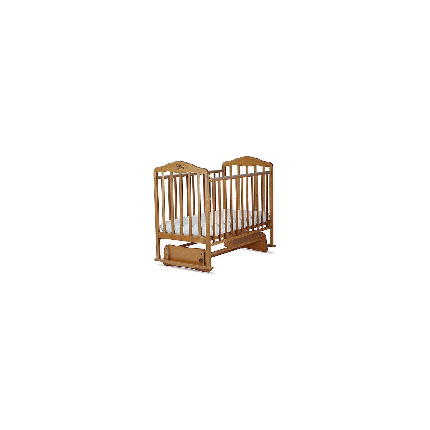 Кроватка Luigi Faggio Naturale, Sweet Baby, бук натуральныйКроватки<br>Характеристики товара:<br><br>• цвет: бук натуральный<br>• с поперечным маятником<br>• фиксатор покоя<br>• материал: массив дерева/ЛДСП<br>• полозья для качания<br>• размер спального места: 120х60 см<br>• 2 уровня ложа<br>• силиконовые накладки на бортиках<br>• размер кроватки (ШхДхВ): 72х125х115см.<br><br>Итальянский бренд Sweet Baby позаботился о комфортном сне вашего малыша благодаря плавному механизму качания поперечного маятника . <br>Кроватка оснащена специальными фиксаторами, которые приводят маятник в состояние покоя.<br><br>Два уровня ложа позволяют менять глубину кроватки по мере роста малыша, опускаемая планка поможет без труда дотянуться до малыша в кроватке.Расстояние между рейками не дает возможность ребенку застрять между ними во время сна.<br><br>На бортиках кроватки есть специальные силиконовые накладки, их основной функцией является защита вашего ребенка во время прорезания зубов.<br><br>Кроватки для новорожденных SweetBaby обрабатываются нетоксичными лаками и красками, абсолютно безвредными для ребенка.<br><br>Кроватку Luigi  Faggio Naturale, Sweet Baby можно купить в нашем интернет-магазине.<br><br>Ширина мм: 710<br>Глубина мм: 150<br>Высота мм: 1240<br>Вес г: 20000<br>Возраст от месяцев: 0<br>Возраст до месяцев: 36<br>Пол: Унисекс<br>Возраст: Детский<br>SKU: 5583579