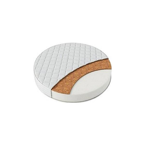 Матрас в кроватку Sweet Baby Cocos DeLuxe, круглый (d75 см)Круглые кроватки<br>Характеристики товара:<br><br>• наполнение: кокосовая койра, HOLLCON<br>• адаптация под анатомические особенности<br>• двухстороняя жесткость<br>• не удерживает влагу<br>• не сохраняет запах<br>• гипоаллергенная ткань<br>• размер: d75, высота 10 см<br>• страна бренда: Италия<br><br>Матрас в кроватку COCOS DeLuxe, Sweet Baby подойдет как для самых маленьких, так и для детей постарше.<br><br>Модель состоит из кокосовой койры и нетканого волокна HOLLCON.<br>Кокосовая койра признана экологически чистым материалом.<br>HOLLCON настолько упругий, что даже с течением времени на матрасе не остаются следы и вмятины. Благодаря этой составляющей, матрас полностью повторяет анатомию спящего.<br><br>Кроме того, это матрас с двухсторонней жесткостью. <br>Более жесткая сторона обычно используется для детей помладше, чтобы обеспечить ортопедическую поддержку позвоночнику и таким образом сопутствовать его правильному развитию. <br>Вторая - более мягкая. Она используется после того, как ребенок немного подрастет. Эта сторона матраса позволит ему чувствовать себя максимально комфортно во время сна.<br><br>Высокое качество гарантирует долгий срок службы. <br><br>Матрас в кроватку COCOS DeLuxe, Sweet Baby можно купить в нашем интернет-магазине.<br>Ширина мм: 750; Глубина мм: 110; Высота мм: 750; Вес г: 2000; Возраст от месяцев: 0; Возраст до месяцев: 36; Пол: Унисекс; Возраст: Детский; SKU: 5583581;