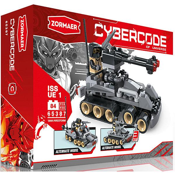 Конструктор Tank Firestorm, 84 детали, ZormaerПластмассовые конструкторы<br>Характеристики товара:<br><br>• количество деталей: 84<br>• возраст: от 6 лет<br>• материал: пластик<br>• размер упаковки: 19х4,5х12 см<br>• вес с упаковкой: 50 г<br>• страна бренда: Китай<br>• страна изготовитель: Китай<br><br>Такой конструктор позволяет собрать три модели транспортных средств и дополнить их фигуркой водителя. Набор совместим с деталями Lego.<br> <br>Детали изготовлены из высококачественного безопасного для детей пластика. Они хорошо обработаны, отлично скрепляются друг с другом.<br><br>Конструктор «Tank Firestorm», 84 детали, Zormaer (Зормаер) можно купить в нашем интернет-магазине.<br><br>Ширина мм: 190<br>Глубина мм: 120<br>Высота мм: 45<br>Вес г: 18<br>Возраст от месяцев: 36<br>Возраст до месяцев: 2147483647<br>Пол: Унисекс<br>Возраст: Детский<br>SKU: 5583831