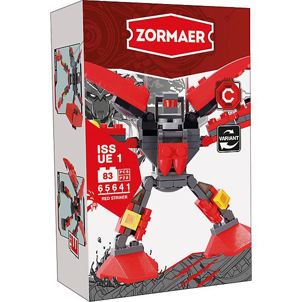 Конструктор Red Striker, 83 детали, ZormaerПластмассовые конструкторы<br>Характеристики товара:<br><br>• количество деталей: 83<br>• возраст: от 6 лет<br>• материал: пластик<br>• размер упаковки: 9,5х4,5х14,5 см<br>• вес с упаковкой: 50 г<br>• страна бренда: Китай<br>• страна изготовитель: Китай<br><br>Этот конструктор позволяет собрать фигуру внушительного боевого робота. Набор совместим с деталями Lego.<br> <br>Части конструктора изготовлены из высококачественного безопасного для детей пластика. Они хорошо обработаны, отлично скрепляются друг с другом.<br><br>Конструктор «Sea Watch», 83 детали, Zormaer (Зормаер) можно купить в нашем интернет-магазине.<br><br>Ширина мм: 145<br>Глубина мм: 45<br>Высота мм: 95<br>Вес г: 24<br>Возраст от месяцев: 36<br>Возраст до месяцев: 2147483647<br>Пол: Унисекс<br>Возраст: Детский<br>SKU: 5583834