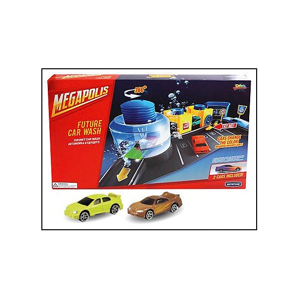 Металлическая машинка Color Twisters Wash-1 с автомойкой, AutotimeМашинки<br>Металлическая машинка Color Twisters Wash-1 с автомойкой, Autotime (Автотайм).<br><br>Характеристики:<br><br>• В наборе: 2 металлические машины, детали для сборки автомойки, наклейки, инструкция<br>• Материал: металл, прочный пластик<br>• Упаковка: картонная коробка<br>• Размер упаковки: 27х42,5х6,2 см.<br><br>Игровой набор Autotime Color Twisters Wash-1 с автомойкой - мечта любого мальчишки! В него входят элементы для сборки автомойки, наклейки для ее стилизации, две металлических машинки светло-коричневого и желтого цветов и схематичная инструкция по сборке автомойки. Автомойка оснащена поднимающимся шлагбаумом, несколькими маленькими отсеками для чистки машин и большим отсеком для водного тюнинга, в который помещается машинка. Сверху большого отсека расположен небольшой бак, который необходимо заполнить водой. При нажатии на него вода начинает выливаться на машинку. Корпус машинок, выполненный из металла, меняет цвет при контакте с холодной водой. Чем холоднее вода, тем интенсивней окрашивание. Изначальный цвет постепенно возвращается при комнатной температуре. Если же ребенок хочет, чтобы цвет вернулся немедленно, достаточно поместить машину в горячую воду. Машинка может частично менять цвет при попадании воды не на весь корпус. Ваш ребенок будет в восторге от такого подарка и проведет много увлекательных часов, играя с этим набором!<br><br>Металлическую машинку Color Twisters Wash-1 с автомойкой, Autotime (Автотайм) можно купить в нашем интернет-магазине.<br>Ширина мм: 350; Глубина мм: 120; Высота мм: 158; Вес г: 761; Возраст от месяцев: 36; Возраст до месяцев: 2147483647; Пол: Мужской; Возраст: Детский; SKU: 5583857;