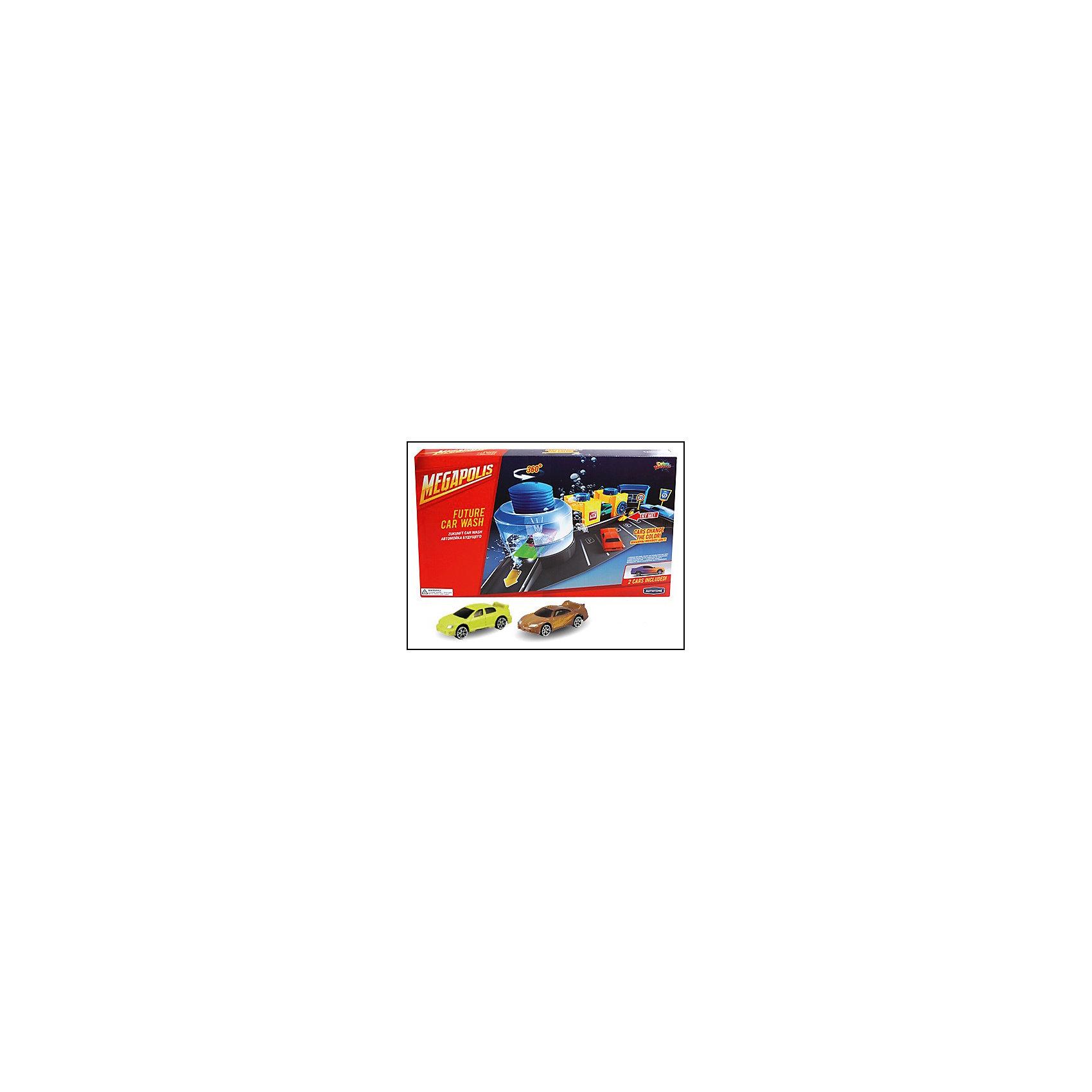 Металлическая машинка Color Twisters Wash-1 с автомойкой, AutotimeМашинки<br>Металлическая машинка Color Twisters Wash-1 с автомойкой, Autotime (Автотайм).<br><br>Характеристики:<br><br>• В наборе: 2 металлические машины, детали для сборки автомойки, наклейки, инструкция<br>• Материал: металл, прочный пластик<br>• Упаковка: картонная коробка<br>• Размер упаковки: 27х42,5х6,2 см.<br><br>Игровой набор Autotime Color Twisters Wash-1 с автомойкой - мечта любого мальчишки! В него входят элементы для сборки автомойки, наклейки для ее стилизации, две металлических машинки светло-коричневого и желтого цветов и схематичная инструкция по сборке автомойки. Автомойка оснащена поднимающимся шлагбаумом, несколькими маленькими отсеками для чистки машин и большим отсеком для водного тюнинга, в который помещается машинка. Сверху большого отсека расположен небольшой бак, который необходимо заполнить водой. При нажатии на него вода начинает выливаться на машинку. Корпус машинок, выполненный из металла, меняет цвет при контакте с холодной водой. Чем холоднее вода, тем интенсивней окрашивание. Изначальный цвет постепенно возвращается при комнатной температуре. Если же ребенок хочет, чтобы цвет вернулся немедленно, достаточно поместить машину в горячую воду. Машинка может частично менять цвет при попадании воды не на весь корпус. Ваш ребенок будет в восторге от такого подарка и проведет много увлекательных часов, играя с этим набором!<br><br>Металлическую машинку Color Twisters Wash-1 с автомойкой, Autotime (Автотайм) можно купить в нашем интернет-магазине.<br><br>Ширина мм: 350<br>Глубина мм: 120<br>Высота мм: 158<br>Вес г: 761<br>Возраст от месяцев: 36<br>Возраст до месяцев: 2147483647<br>Пол: Мужской<br>Возраст: Детский<br>SKU: 5583857