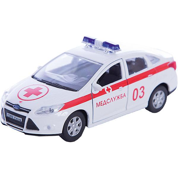 Машинка Ford Focus скорая помощь 1:36, AutotimeМашинки<br>Машинка Ford Focus скорая помощь 1:36, Autotime (Автотайм).<br><br>Характеристики:<br><br>• Масштаб 1:36<br>• Материал: металл, пластик<br>• Цвет: белый<br>• Упаковка: картонная коробка блистерного типа<br>• Размер упаковки: 16,5x5,7x7,2 см.<br><br>Машинка Ford Focus скорая помощь от Autotime (Автотайм) является уменьшенной копией настоящего автомобиля. Модель машины с маркировкой медицинской службы, оборудованная спецсигналами на крыше, отличается высокой степенью детализации. Корпус машинки изготовлен из металла, а все дополнительные элементы из пластика. Передние двери открываются, что позволяет рассмотреть салон изнутри в деталях. Машинка оснащена инерционным механизмом. Машинка Ford Focus скорая помощь станет хорошим подарком и ребенку, и коллекционеру моделей автомобилей.<br><br>Машинку Ford Focus скорая помощь 1:36, Autotime (Автотайм) можно купить в нашем интернет-магазине.<br><br>Ширина мм: 165<br>Глубина мм: 57<br>Высота мм: 75<br>Вес г: 13<br>Возраст от месяцев: 36<br>Возраст до месяцев: 2147483647<br>Пол: Мужской<br>Возраст: Детский<br>SKU: 5583864