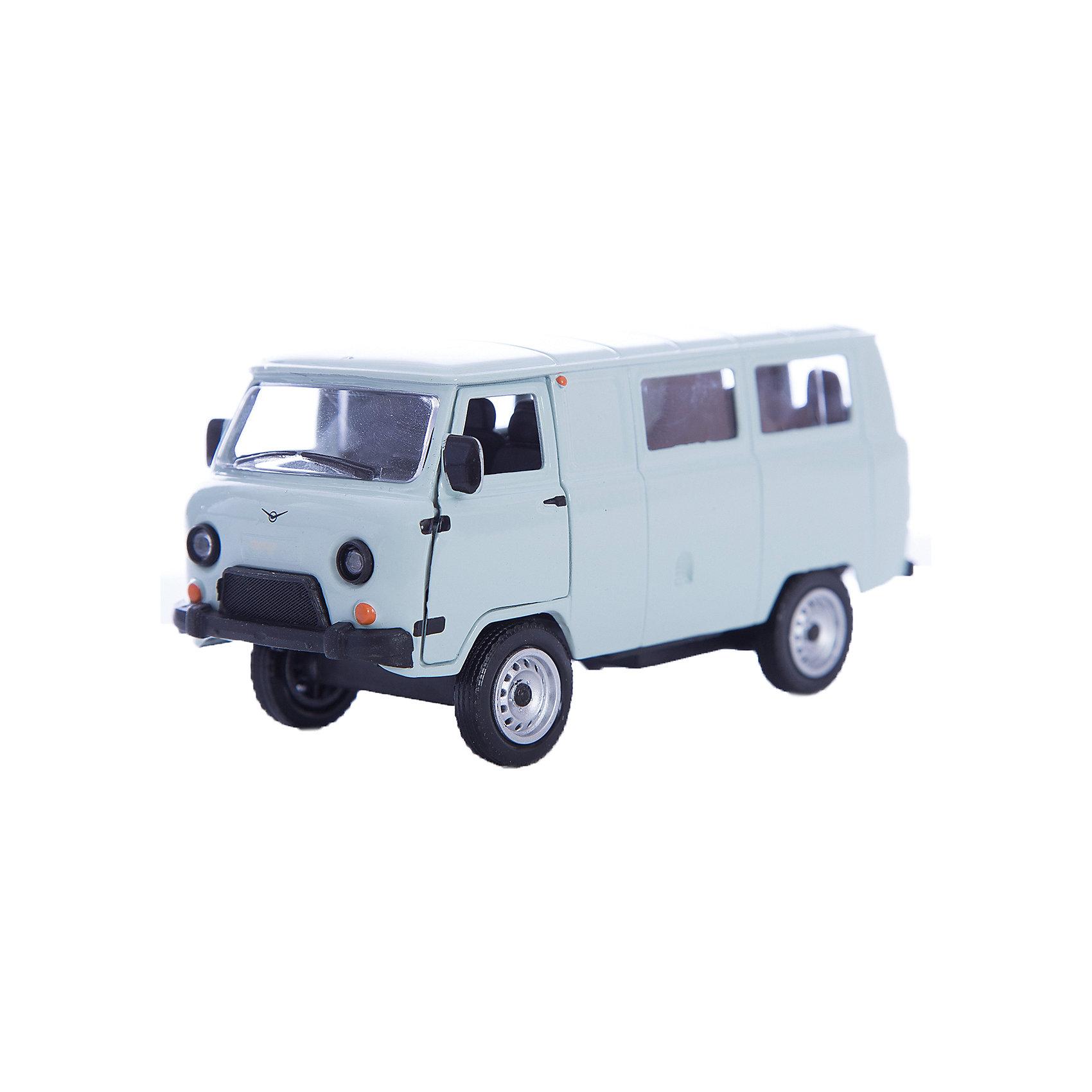Машинка UAZ 39625 гражданская 1:43, AutotimeМашинки<br>Машинка UAZ 39625 гражданская 1:43, Autotime (Автотайм).<br><br>Характеристики:<br><br>• Масштаб 1:43<br>• Материал: металл, пластик<br>• Упаковка: картонная коробка блистерного типа<br>• Размер упаковки: 16,5x5,7x7,2 см.<br><br>Машинка UAZ 39625 гражданская от Autotime (Автотайм) является уменьшенной копией настоящего автомобиля. UAZ 39625 широко известный как «Буханка» или «Таблетка» - полноприводный грузопассажирский автомобиль повышенной проходимости. Выпускается с 1965 года и по настоящее время. Машинка отличается высокой степенью детализации. Корпус машинки металлический с пластиковыми элементами. Передние двери открываются, что позволяет рассмотреть салон изнутри в деталях. Машинка оснащена инерционным механизмом. Машинка UAZ 39625 гражданская станет хорошим подарком и ребенку, и коллекционеру моделей автомобилей.<br><br>Машинку UAZ 39625 гражданскую 1:43, Autotime (Автотайм) можно купить в нашем интернет-магазине.<br><br>Ширина мм: 165<br>Глубина мм: 57<br>Высота мм: 75<br>Вес г: 13<br>Возраст от месяцев: 36<br>Возраст до месяцев: 2147483647<br>Пол: Мужской<br>Возраст: Детский<br>SKU: 5583867
