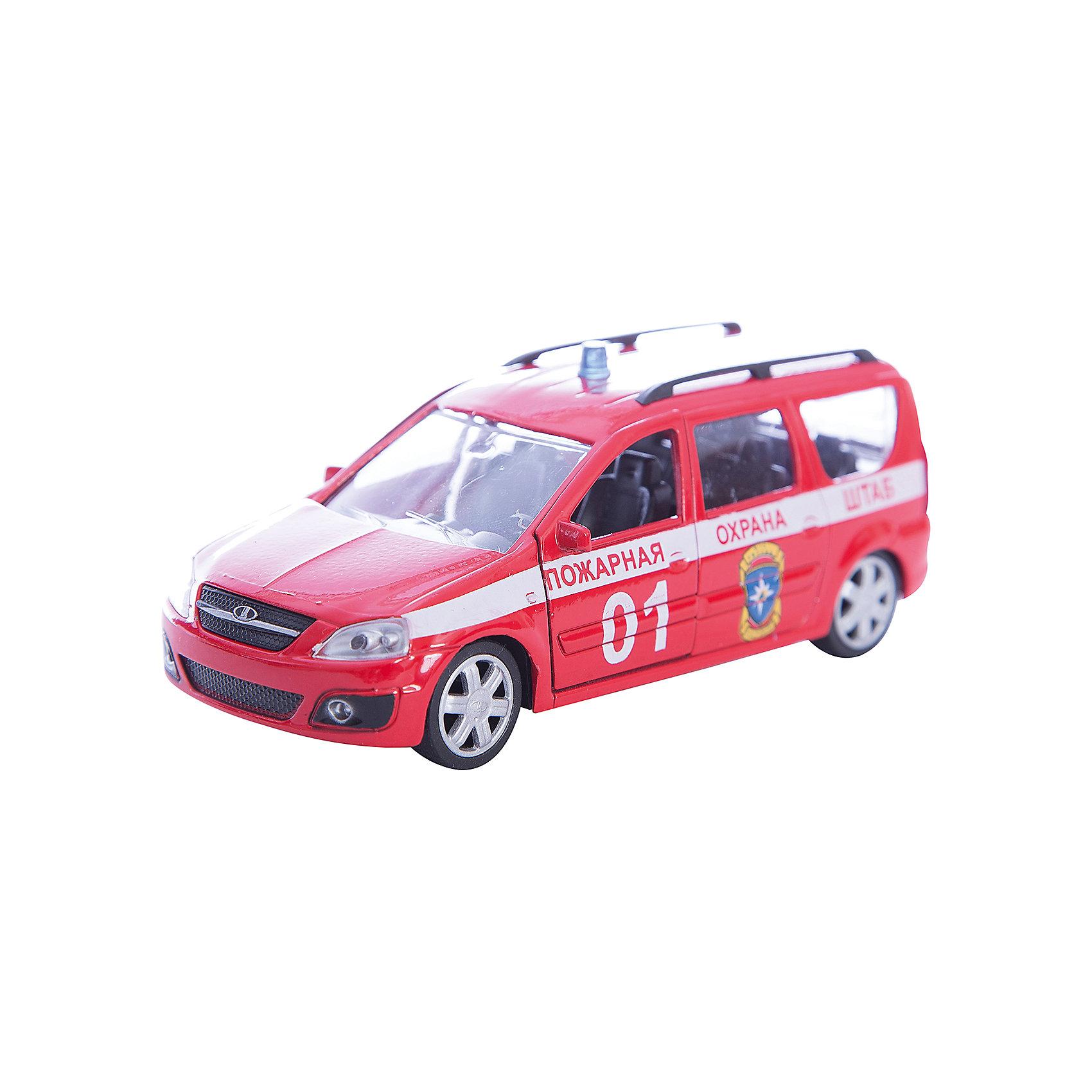Машинка Lada Largus пожарная охрана 1:38, AutotimeМашинки<br>Машинка Lada Largus пожарная охрана 1:38, Autotime (Автотайм).<br><br>Характеристики:<br><br>• Масштаб 1:38<br>• Цвет: красный<br>• Материал: металл, пластик<br>• Упаковка: картонная коробка блистерного типа<br>• Размер упаковки: 16,5x5,7x7,2 см.<br><br>Машинка Lada Largus пожарная охрана от Autotime (Автотайм) является уменьшенной копией настоящего автомобиля. Модель отличается высокой степенью детализации. Корпус машинки металлический с пластиковыми элементами. Автомобиль очень реалистично раскрашен. Передние двери открываются, что позволяет рассмотреть салон изнутри в деталях. Машинка оснащена инерционным механизмом. Машинка Lada Largus пожарная охрана, выпущенная в русской серии бренда Autotime (Автотайм), станет хорошим подарком и ребенку, и коллекционеру моделей автомобилей.<br><br>Машинку Lada Largus пожарная охрана 1:38, Autotime (Автотайм) можно купить в нашем интернет-магазине.<br><br>Ширина мм: 165<br>Глубина мм: 57<br>Высота мм: 75<br>Вес г: 13<br>Возраст от месяцев: 36<br>Возраст до месяцев: 2147483647<br>Пол: Мужской<br>Возраст: Детский<br>SKU: 5583879
