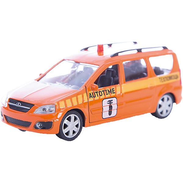 Машинка Lada Largus техпомощь 1:38, AutotimeМашинки<br>Машинка Lada Largus техпомощь 1:38, Autotime (Автотайм).<br><br>Характеристики:<br><br>• Масштаб 1:38<br>• Цвет: оранжевый<br>• Материал: металл, пластик<br>• Упаковка: картонная коробка блистерного типа<br>• Размер упаковки: 16,5x5,7x7,2 см.<br><br>Машинка Lada Largus техпомощь от Autotime (Автотайм) является уменьшенной копией настоящего автомобиля. Модель отличается высокой степенью детализации. Корпус машинки металлический с пластиковыми элементами. Автомобиль очень реалистично раскрашен. Передние двери открываются, что позволяет рассмотреть салон изнутри в деталях. Машинка оснащена инерционным механизмом. Машинка Lada Largus техпомощь, выпущенная в русской серии бренда Autotime (Автотайм), станет хорошим подарком и ребенку, и коллекционеру моделей автомобилей.<br><br>Машинку Lada Largus техпомощь 1:38, Autotime (Автотайм) можно купить в нашем интернет-магазине.<br><br>Ширина мм: 165<br>Глубина мм: 57<br>Высота мм: 75<br>Вес г: 13<br>Возраст от месяцев: 36<br>Возраст до месяцев: 2147483647<br>Пол: Мужской<br>Возраст: Детский<br>SKU: 5583881