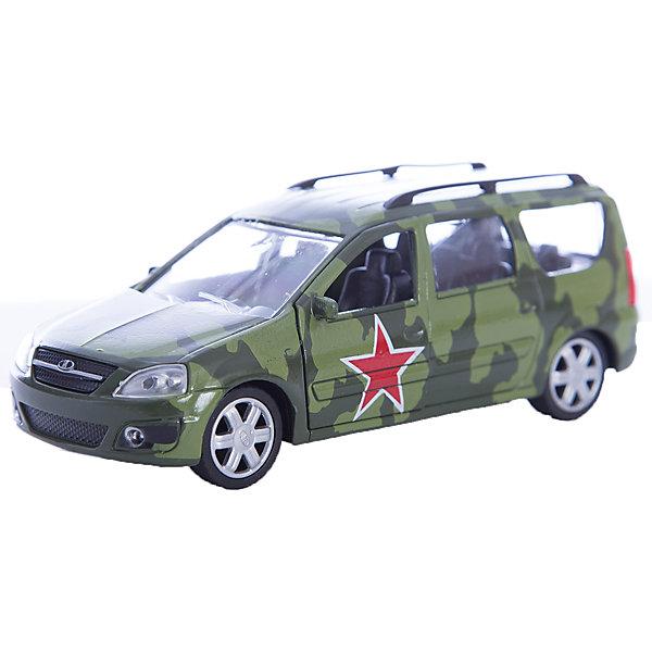 Машинка Lada Largus армейская 1:38, AutotimeМашинки<br>Машинка Lada Largus армейская 1:38, Autotime (Автотайм).<br><br>Характеристики:<br><br>• Масштаб 1:38<br>• Цвет: лесной камуфляж<br>• Материал: металл, пластик<br>• Упаковка: картонная коробка блистерного типа<br>• Размер упаковки: 16,5x5,7x7,2 см.<br><br>Машинка Lada Largus армейская от Autotime (Автотайм) является уменьшенной копией настоящего автомобиля. Модель отличается высокой степенью детализации. Корпус машинки металлический с пластиковыми элементами. Автомобиль очень реалистично раскрашен. Передние двери открываются, что позволяет рассмотреть салон изнутри в деталях. Машинка оснащена инерционным механизмом. Машинка Lada Largus армейская, выпущенная в русской серии бренда Autotime (Автотайм), станет хорошим подарком и ребенку, и коллекционеру моделей автомобилей.<br><br>Машинку Lada Largus армейскую 1:38, Autotime (Автотайм) можно купить в нашем интернет-магазине.<br>Ширина мм: 165; Глубина мм: 57; Высота мм: 75; Вес г: 13; Возраст от месяцев: 36; Возраст до месяцев: 2147483647; Пол: Мужской; Возраст: Детский; SKU: 5583882;