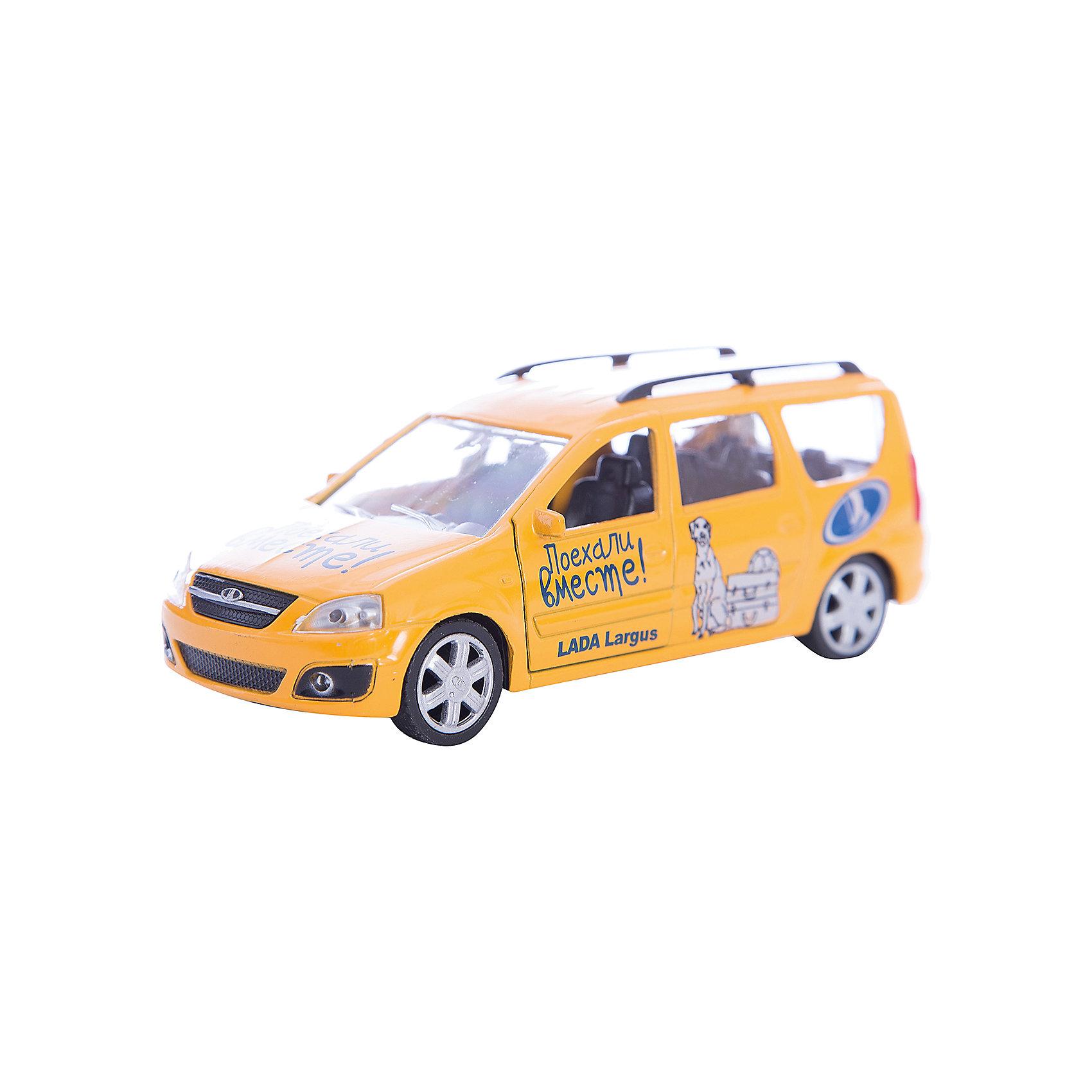Машинка Lada Largus Поехали вместе! 1:38, AutotimeМашинки<br>Машинка Lada Largus Поехали вместе! 1:38, Autotime (Автотайм).<br><br>Характеристики:<br><br>• Масштаб 1:38<br>• Цвет: желтый<br>• Материал: металл, пластик<br>• Упаковка: картонная коробка блистерного типа<br>• Размер упаковки: 16,5x5,7x7,2 см.<br><br>Машинка Lada Largus Поехали вместе! от Autotime (Автотайм) является уменьшенной копией настоящего автомобиля. Модель отличается высокой степенью детализации. Корпус машинки металлический с пластиковыми элементами. Передние двери открываются, что позволяет рассмотреть салон изнутри в деталях. Машинка оснащена инерционным механизмом. Машинка Lada Largus, выпущенная в русской серии бренда Autotime (Автотайм), станет хорошим подарком и ребенку, и коллекционеру моделей автомобилей.<br><br>Машинку Lada Largus Поехали вместе! 1:38, Autotime (Автотайм) можно купить в нашем интернет-магазине.<br><br>Ширина мм: 165<br>Глубина мм: 57<br>Высота мм: 75<br>Вес г: 13<br>Возраст от месяцев: 36<br>Возраст до месяцев: 2147483647<br>Пол: Мужской<br>Возраст: Детский<br>SKU: 5583883