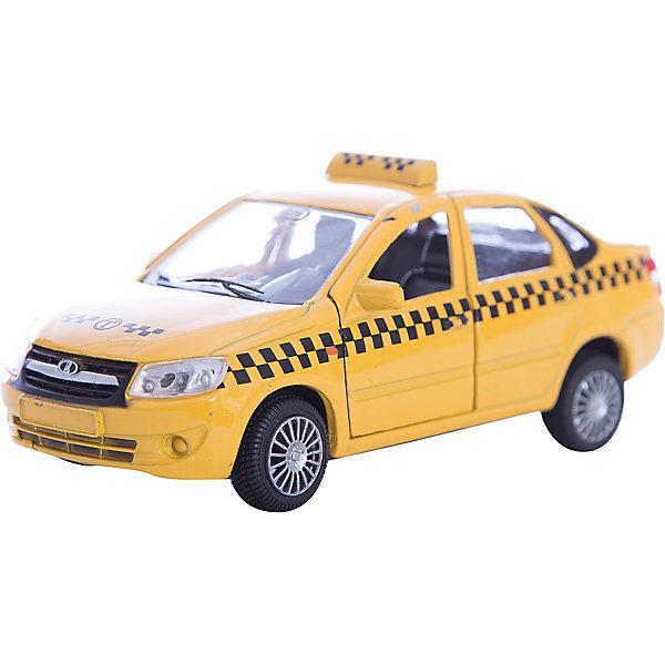 Машинка Lada Granta такси 1:36, AutotimeМашинки<br>Характеристики товара:<br><br>• цвет: желтый<br>• возраст: от 3 лет<br>• материал: металл, пластик<br>• размер: 16,5х7,х5,7 см<br>• вес: 100 г<br>• масштаб: 1:36<br>• колеса вращаются<br>• хорошая детализация<br>• открываются двери<br>• страна бренда: Россия<br>• страна производства: Китай<br><br>Коллекционная машинка LADA GRANTA такси от бренда AUTOTIME станет отличным подарком для мальчика. Подробная детализация машинки порадует увлеченного коллекционера, а открывающиеся двери и свободно вращающиеся колеса придутся по душе юному владельцу игрушечного гаража. Эта игрушка подарит восторг и радость вашему ребенку. <br><br>Игрушка также воздействует на наглядно-образное мышление, логическое мышление, развивает мелкую моторику. Изделие выполнено из сертифицированных материалов, безопасных для детей.<br><br>Машинку «Lada Granta» такси от бренда AUTOTIME можно купить в нашем интернет-магазине.<br><br>Ширина мм: 165<br>Глубина мм: 57<br>Высота мм: 75<br>Вес г: 13<br>Возраст от месяцев: 36<br>Возраст до месяцев: 2147483647<br>Пол: Мужской<br>Возраст: Детский<br>SKU: 5583890
