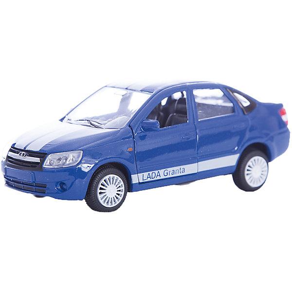 Машинка Lada Granta тюнинговая версия 1:36, AutotimeМашинки<br>Характеристики товара:<br><br>• цвет: синий<br>• возраст: от 3 лет<br>• материал: металл, пластик<br>• размер: 16,5х7,х5,7 см<br>• вес: 100 г<br>• масштаб: 1:36<br>• колеса вращаются<br>• хорошая детализация<br>• открываются двери<br>• страна бренда: Россия<br>• страна производства: Китай<br><br>Коллекционная машинка LADA GRANTA тюнинговая версия от бренда AUTOTIME станет отличным подарком для мальчика. Подробная детализация машинки порадует увлеченного коллекционера, а открывающиеся двери и свободно вращающиеся колеса придутся по душе юному владельцу игрушечного гаража. Эта игрушка подарит восторг и радость вашему ребенку. <br><br>Игрушка также воздействует на наглядно-образное мышление, логическое мышление, развивает мелкую моторику. Изделие выполнено из сертифицированных материалов, безопасных для детей.<br><br>Машинку «Lada Granta» тюнинговая версия от бренда AUTOTIME можно купить в нашем интернет-магазине.<br>Ширина мм: 165; Глубина мм: 57; Высота мм: 75; Вес г: 13; Возраст от месяцев: 36; Возраст до месяцев: 2147483647; Пол: Мужской; Возраст: Детский; SKU: 5583892;