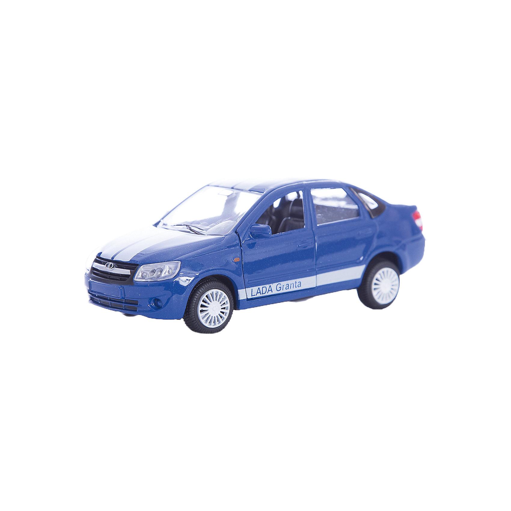 Машинка Lada Granta тюнинговая версия 1:36, AutotimeМашинки<br>Характеристики товара:<br><br>• цвет: синий<br>• возраст: от 3 лет<br>• материал: металл, пластик<br>• размер: 16,5х7,х5,7 см<br>• вес: 100 г<br>• масштаб: 1:36<br>• колеса вращаются<br>• хорошая детализация<br>• открываются двери<br>• страна бренда: Россия<br>• страна производства: Китай<br><br>Коллекционная машинка LADA GRANTA тюнинговая версия от бренда AUTOTIME станет отличным подарком для мальчика. Подробная детализация машинки порадует увлеченного коллекционера, а открывающиеся двери и свободно вращающиеся колеса придутся по душе юному владельцу игрушечного гаража. Эта игрушка подарит восторг и радость вашему ребенку. <br><br>Игрушка также воздействует на наглядно-образное мышление, логическое мышление, развивает мелкую моторику. Изделие выполнено из сертифицированных материалов, безопасных для детей.<br><br>Машинку «Lada Granta» тюнинговая версия от бренда AUTOTIME можно купить в нашем интернет-магазине.<br><br>Ширина мм: 165<br>Глубина мм: 57<br>Высота мм: 75<br>Вес г: 13<br>Возраст от месяцев: 36<br>Возраст до месяцев: 2147483647<br>Пол: Мужской<br>Возраст: Детский<br>SKU: 5583892