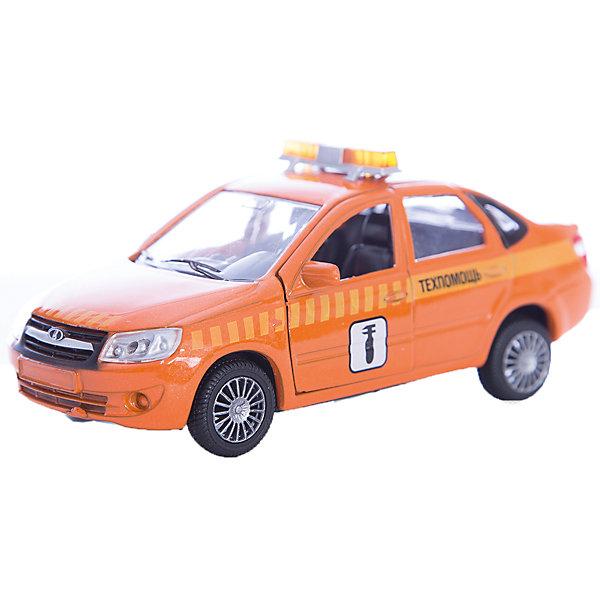 Машинка Lada Granta техпомощь 1:36, AutotimeМашинки<br>Характеристики товара:<br><br>• цвет: оранжевая<br>• возраст: от 3 лет<br>• материал: металл, пластик<br>• размер: 16,5х7,х5,7 см<br>• вес: 100 г<br>• масштаб: 1:36<br>• колеса вращаются<br>• хорошая детализация<br>• открываются двери<br>• страна бренда: Россия<br>• страна производства: Китай<br><br>Коллекционная машинка LADA GRANTA техпомощь от бренда AUTOTIME станет отличным подарком для мальчика. Подробная детализация машинки порадует увлеченного коллекционера, а открывающиеся двери и свободно вращающиеся колеса придутся по душе юному владельцу игрушечного гаража. Эта игрушка подарит восторг и радость вашему ребенку. <br><br>Игрушка также воздействует на наглядно-образное мышление, логическое мышление, развивает мелкую моторику. Изделие выполнено из сертифицированных материалов, безопасных для детей.<br><br>Машинку «Lada Granta» техпомощь от бренда AUTOTIME можно купить в нашем интернет-магазине.<br>Ширина мм: 165; Глубина мм: 57; Высота мм: 75; Вес г: 13; Возраст от месяцев: 36; Возраст до месяцев: 2147483647; Пол: Мужской; Возраст: Детский; SKU: 5583893;