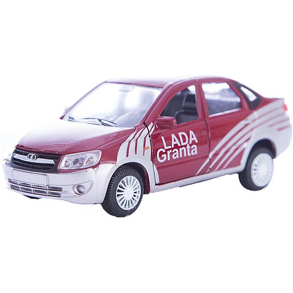 Машинка Lada Granta спорт 1:36, AutotimeМашинки<br>Характеристики товара:<br><br>• цвет: красный<br>• материал: металл, пластик<br>• размер: 16,5х7,х5,7 см<br>• вес: 100 г<br>• масштаб: 1:36<br>• колеса вращаются<br>• хорошая детализация<br>• открываются двери<br>• страна бренда: Россия<br>• страна производства: Китай<br><br>Коллекционная машинка LADA GRANTA спорт от бренда AUTOTIME станет отличным подарком для мальчика. Подробная детализация машинки порадует увлеченного коллекционера, а открывающиеся двери и свободно вращающиеся колеса придутся по душе юному владельцу игрушечного гаража. Эта игрушка подарит восторг и радость вашему ребенку. <br><br>Игрушка также воздействует на наглядно-образное мышление, логическое мышление, развивает мелкую моторику. Изделие выполнено из сертифицированных материалов, безопасных для детей.<br><br>Машинку «Lada Granta» спорт от бренда AUTOTIME можно купить в нашем интернет-магазине.<br><br>Ширина мм: 165<br>Глубина мм: 57<br>Высота мм: 75<br>Вес г: 13<br>Возраст от месяцев: 36<br>Возраст до месяцев: 2147483647<br>Пол: Мужской<br>Возраст: Детский<br>SKU: 5583894