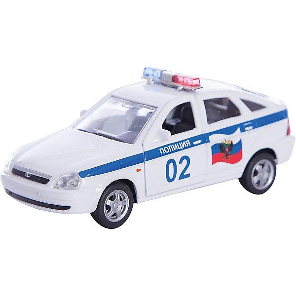 Машинка Lada Priora полиция 1:36, AutotimeМашинки<br>Характеристики товара:<br><br>• цвет: белый<br>• материал: металл, пластик<br>• размер: 16,5х7,х5,7 см<br>• вес: 100 г<br>• масштаб: 1:36<br>• прочный материал<br>• хорошая детализация<br>• открываются двери<br>• страна бренда: Россия<br>• страна производства: Китай<br><br>Коллекционная машинка LADA Priora полиция от бренда AUTOTIME станет отличным подарком для мальчика. Подробная детализация машинки порадует увлеченного коллекционера, а открывающиеся двери и свободно вращающиеся колеса придутся по душе юному владельцу игрушечного гаража. Эта игрушка подарит восторг и радость вашему ребенку. <br><br>Игрушка также воздействует на наглядно-образное мышление, логическое мышление, развивает мелкую моторику. Изделие выполнено из сертифицированных материалов, безопасных для детей.<br><br>Машинку «Lada Priora» полиция от бренда AUTOTIME можно купить в нашем интернет-магазине.<br><br>Ширина мм: 165<br>Глубина мм: 57<br>Высота мм: 75<br>Вес г: 13<br>Возраст от месяцев: 36<br>Возраст до месяцев: 2147483647<br>Пол: Мужской<br>Возраст: Детский<br>SKU: 5583898