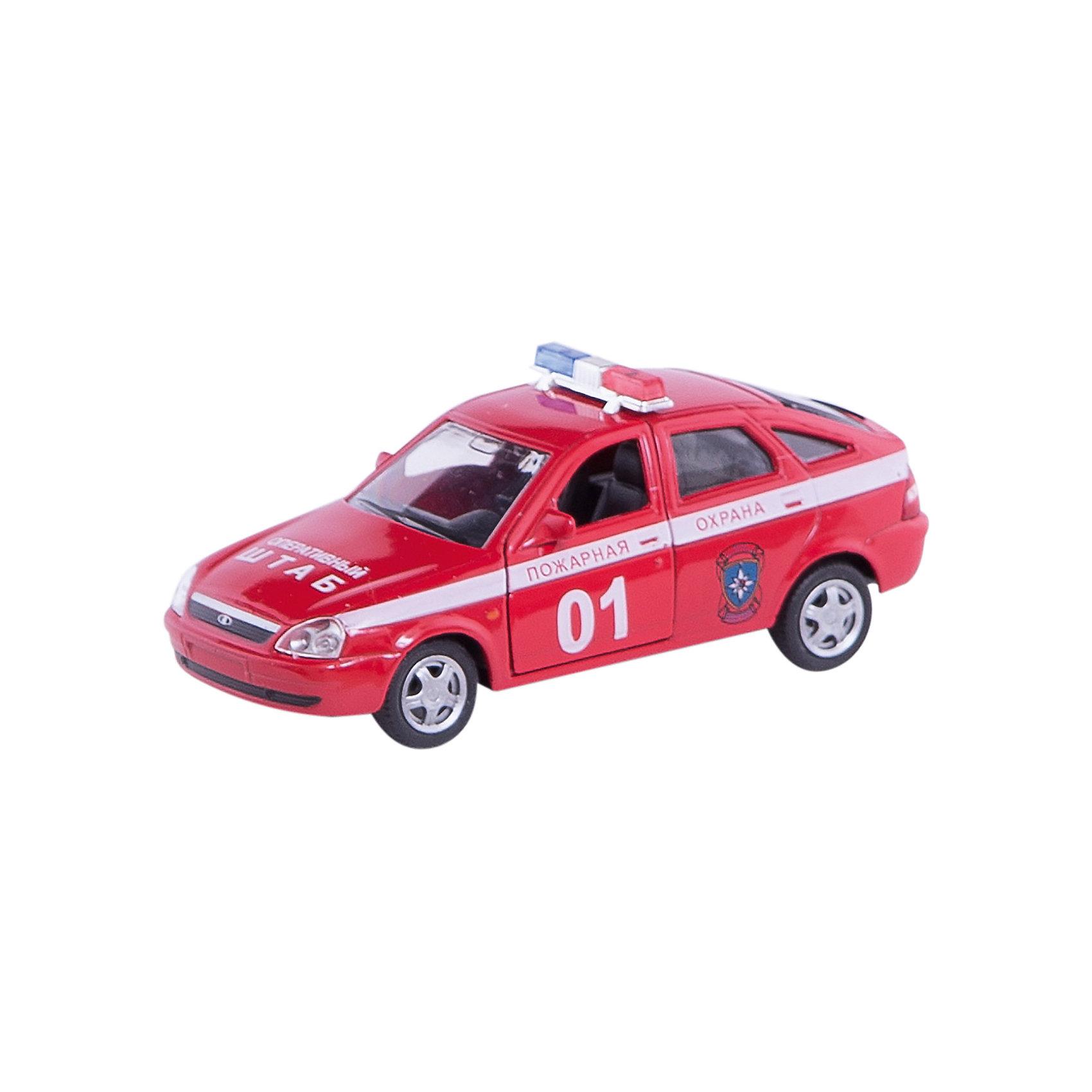 Машинка Lada Priora пожарная охрана 1:36, AutotimeМашинки<br>Характеристики товара:<br><br>• цвет: красный<br>• материал: металл, пластик<br>• размер: 16,5х7,х5,7 см<br>• вес: 100 г<br>• масштаб: 1:36<br>• прочный материал<br>• хорошая детализация<br>• открываются двери<br>• страна бренда: Россия<br>• страна производства: Китай<br><br>Коллекционная машинка LADA Priora пожарная охрана от бренда AUTOTIME станет отличным подарком для мальчика. Подробная детализация машинки порадует увлеченного коллекционера, а открывающиеся двери и свободно вращающиеся колеса придутся по душе юному владельцу игрушечного гаража. Эта игрушка подарит восторг и радость вашему ребенку. <br><br>Игрушка также воздействует на наглядно-образное мышление, логическое мышление, развивает мелкую моторику. Изделие выполнено из сертифицированных материалов, безопасных для детей.<br><br>Машинку «Lada Priora» пожарная охрана от бренда AUTOTIME можно купить в нашем интернет-магазине.<br><br>Ширина мм: 165<br>Глубина мм: 57<br>Высота мм: 75<br>Вес г: 13<br>Возраст от месяцев: 36<br>Возраст до месяцев: 2147483647<br>Пол: Мужской<br>Возраст: Детский<br>SKU: 5583899