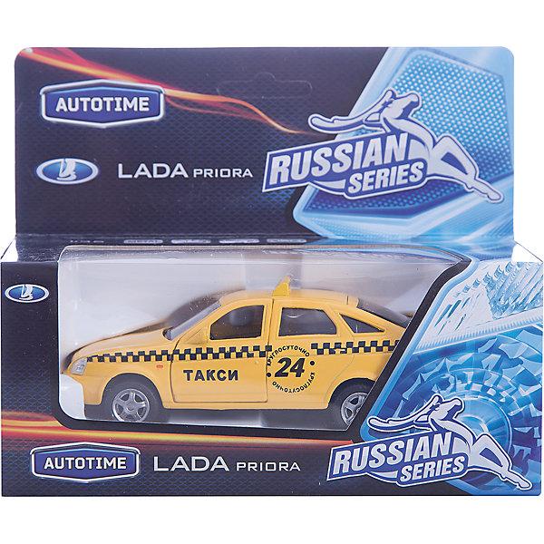 Машинка Lada Priora такси 1:36, AutotimeМашинки<br>Характеристики товара:<br><br>• цвет: желтый<br>• материал: металл, пластик<br>• размер: 16,5х7,х5,7 см<br>• вес: 100 г<br>• масштаб: 1:36<br>• прочный материал<br>• хорошая детализация<br>• открываются двери<br>• страна бренда: Россия<br>• страна производства: Китай<br><br>Коллекционная машинка LADA Priora такси от бренда AUTOTIME станет отличным подарком для мальчика. Подробная детализация машинки порадует увлеченного коллекционера, а открывающиеся двери и свободно вращающиеся колеса придутся по душе юному владельцу игрушечного гаража. Эта игрушка подарит восторг и радость вашему ребенку. <br>Игрушка также воздействует на наглядно-образное мышление, логическое мышление, развивает мелкую моторику. Изделие выполнено из сертифицированных материалов, безопасных для детей.<br><br>Машинку «Lada Priora» такси от бренда AUTOTIME можно купить в нашем интернет-магазине.<br>Ширина мм: 165; Глубина мм: 57; Высота мм: 75; Вес г: 13; Возраст от месяцев: 36; Возраст до месяцев: 2147483647; Пол: Мужской; Возраст: Детский; SKU: 5583903;