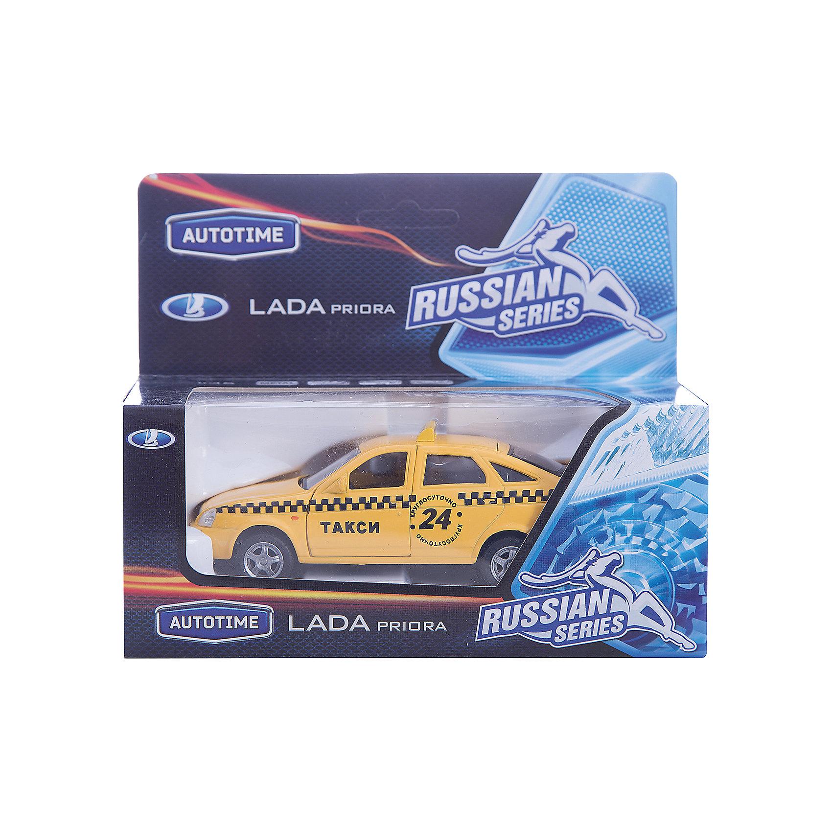 Машинка Lada Priora такси 1:36, AutotimeМашинки<br>Характеристики товара:<br><br>• цвет: желтый<br>• материал: металл, пластик<br>• размер: 16,5х7,х5,7 см<br>• вес: 100 г<br>• масштаб: 1:36<br>• прочный материал<br>• хорошая детализация<br>• открываются двери<br>• страна бренда: Россия<br>• страна производства: Китай<br><br>Коллекционная машинка LADA Priora такси от бренда AUTOTIME станет отличным подарком для мальчика. Подробная детализация машинки порадует увлеченного коллекционера, а открывающиеся двери и свободно вращающиеся колеса придутся по душе юному владельцу игрушечного гаража. Эта игрушка подарит восторг и радость вашему ребенку. <br>Игрушка также воздействует на наглядно-образное мышление, логическое мышление, развивает мелкую моторику. Изделие выполнено из сертифицированных материалов, безопасных для детей.<br><br>Машинку «Lada Priora» такси от бренда AUTOTIME можно купить в нашем интернет-магазине.<br><br>Ширина мм: 165<br>Глубина мм: 57<br>Высота мм: 75<br>Вес г: 13<br>Возраст от месяцев: 36<br>Возраст до месяцев: 2147483647<br>Пол: Мужской<br>Возраст: Детский<br>SKU: 5583903
