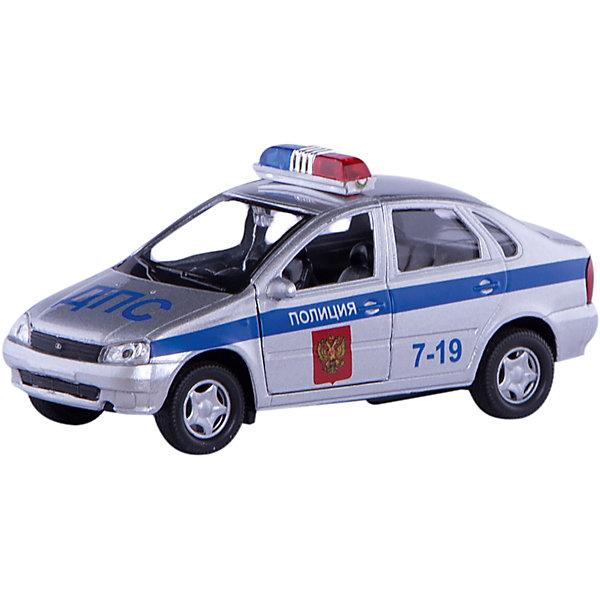 Машинка Lada Kalina полиция 1:34, AutotimeМашинки<br>Характеристики товара:<br><br>• цвет: серый<br>• материал: металл, пластик<br>• размер: 16,5х7,х5,7 см<br>• вес: 100 г<br>• масштаб: 1:34<br>• прочный материал<br>• хорошая детализация<br>• открываются двери<br>• страна бренда: Россия<br>• страна производства: Китай<br><br>Коллекционная машинка LADA Kalina полиция от бренда AUTOTIME станет отличным подарком для мальчика. Подробная детализация машинки порадует увлеченного коллекционера, а открывающиеся двери и свободно вращающиеся колеса придутся по душе юному владельцу игрушечного гаража. Эта игрушка подарит восторг и радость вашему ребенку. <br><br>Игрушка также воздействует на наглядно-образное мышление, логическое мышление, развивает мелкую моторику. Изделие выполнено из сертифицированных материалов, безопасных для детей.<br><br>Машинку «Lada Kalina» полиция от бренда AUTOTIME можно купить в нашем интернет-магазине.<br>Ширина мм: 165; Глубина мм: 57; Высота мм: 75; Вес г: 13; Возраст от месяцев: 36; Возраст до месяцев: 2147483647; Пол: Мужской; Возраст: Детский; SKU: 5583907;