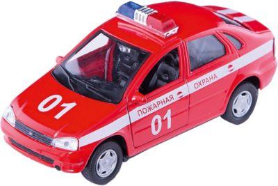 Машинка Lada Kalina пожарная охрана 1:34, Autotime