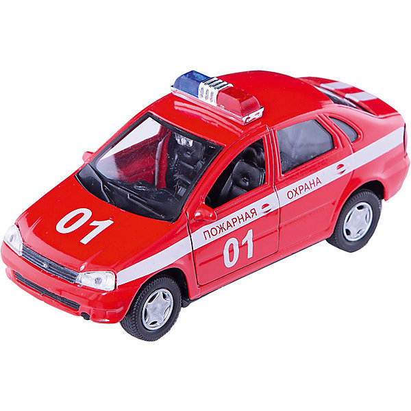 Машинка Lada Kalina пожарная охрана 1:34, AutotimeМашинки<br>Характеристики товара:<br><br>• цвет: красный<br>• материал: металл, пластик<br>• размер: 16,5х7,х5,7 см<br>• вес: 100 г<br>• масштаб: 1:34<br>• прочный материал<br>• хорошая детализация<br>• открываются двери<br>• страна бренда: Россия<br>• страна производства: Китай<br><br>Коллекционная машинка LADA Kalina пожарная охрана от бренда AUTOTIME станет отличным подарком для мальчика. Подробная детализация машинки порадует увлеченного коллекционера, а открывающиеся двери и свободно вращающиеся колеса придутся по душе юному владельцу игрушечного гаража. Эта игрушка подарит восторг и радость вашему ребенку. <br><br>Игрушка также воздействует на наглядно-образное мышление, логическое мышление, развивает мелкую моторику. Изделие выполнено из сертифицированных материалов, безопасных для детей.<br><br>Машинку «Lada Kalina» пожарная охрана от бренда AUTOTIME можно купить в нашем интернет-магазине.<br>Ширина мм: 165; Глубина мм: 57; Высота мм: 75; Вес г: 13; Возраст от месяцев: 36; Возраст до месяцев: 2147483647; Пол: Мужской; Возраст: Детский; SKU: 5583910;