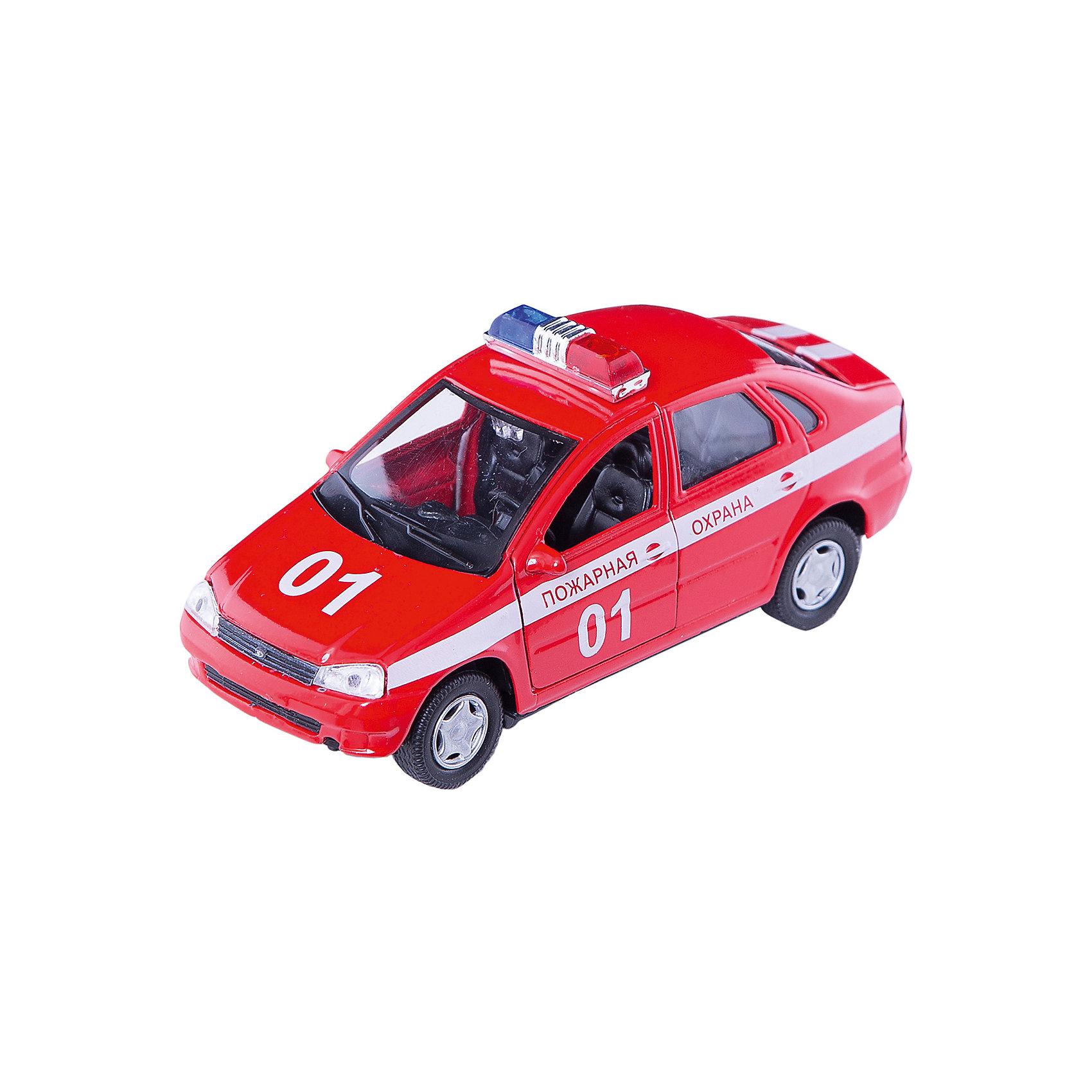 Машинка Lada Kalina пожарная охрана 1:34, AutotimeМашинки<br>Характеристики товара:<br><br>• цвет: красный<br>• материал: металл, пластик<br>• размер: 16,5х7,х5,7 см<br>• вес: 100 г<br>• масштаб: 1:34<br>• прочный материал<br>• хорошая детализация<br>• открываются двери<br>• страна бренда: Россия<br>• страна производства: Китай<br><br>Коллекционная машинка LADA Kalina пожарная охрана от бренда AUTOTIME станет отличным подарком для мальчика. Подробная детализация машинки порадует увлеченного коллекционера, а открывающиеся двери и свободно вращающиеся колеса придутся по душе юному владельцу игрушечного гаража. Эта игрушка подарит восторг и радость вашему ребенку. <br><br>Игрушка также воздействует на наглядно-образное мышление, логическое мышление, развивает мелкую моторику. Изделие выполнено из сертифицированных материалов, безопасных для детей.<br><br>Машинку «Lada Kalina» пожарная охрана от бренда AUTOTIME можно купить в нашем интернет-магазине.<br><br>Ширина мм: 165<br>Глубина мм: 57<br>Высота мм: 75<br>Вес г: 13<br>Возраст от месяцев: 36<br>Возраст до месяцев: 2147483647<br>Пол: Мужской<br>Возраст: Детский<br>SKU: 5583910
