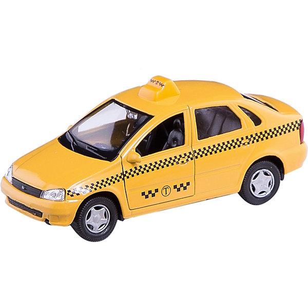 Машинка Lada Kalina такси 1:34, AutotimeМашинки<br>Характеристики товара:<br><br>• цвет: желтый<br>• материал: металл, пластик<br>• размер: 16,5х7,х5,7 см<br>• вес: 100 г<br>• масштаб: 1:34<br>• прочный материал<br>• хорошая детализация<br>• открываются двери<br>• страна бренда: Россия<br>• страна производства: Китай<br><br>Коллекционная машинка LADA Kalina такси от бренда AUTOTIME станет отличным подарком для мальчика. Подробная детализация машинки порадует увлеченного коллекционера, а открывающиеся двери и свободно вращающиеся колеса придутся по душе юному владельцу игрушечного гаража. Эта игрушка подарит восторг и радость вашему ребенку. <br><br>Игрушка также воздействует на наглядно-образное мышление, логическое мышление, развивает мелкую моторику. Изделие выполнено из сертифицированных материалов, безопасных для детей.<br><br>Машинку «Lada Kalina» такси от бренда AUTOTIME можно купить в нашем интернет-магазине.<br>Ширина мм: 165; Глубина мм: 57; Высота мм: 75; Вес г: 13; Возраст от месяцев: 36; Возраст до месяцев: 2147483647; Пол: Мужской; Возраст: Детский; SKU: 5583912;