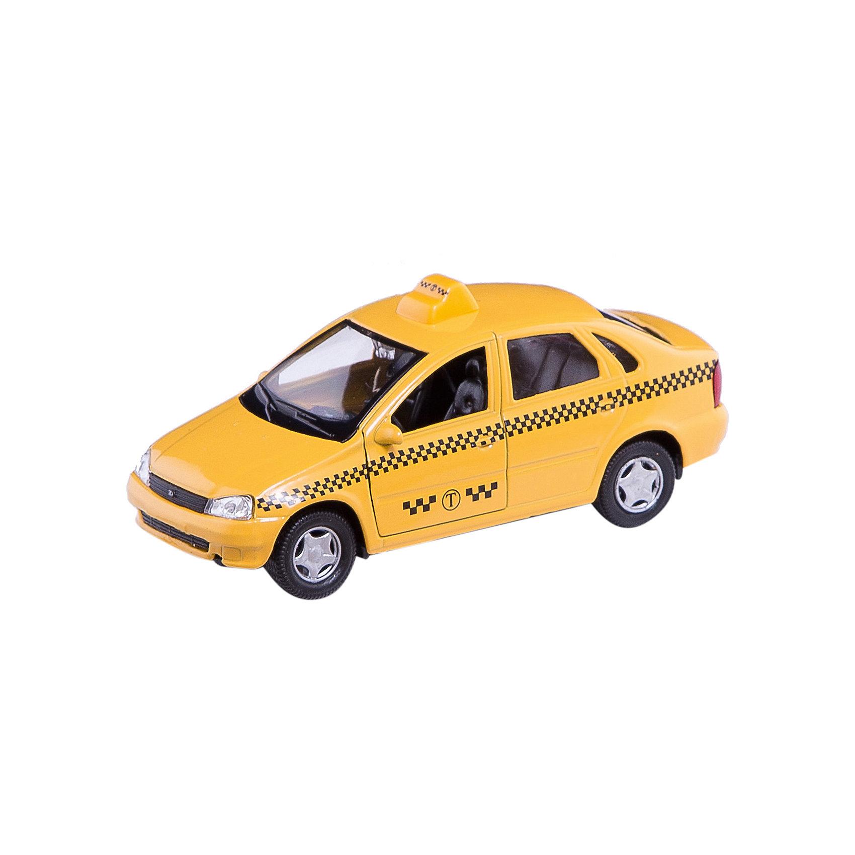 Машинка Lada Kalina такси 1:34, AutotimeМашинки<br>Характеристики товара:<br><br>• цвет: желтый<br>• материал: металл, пластик<br>• размер: 16,5х7,х5,7 см<br>• вес: 100 г<br>• масштаб: 1:34<br>• прочный материал<br>• хорошая детализация<br>• открываются двери<br>• страна бренда: Россия<br>• страна производства: Китай<br><br>Коллекционная машинка LADA Kalina такси от бренда AUTOTIME станет отличным подарком для мальчика. Подробная детализация машинки порадует увлеченного коллекционера, а открывающиеся двери и свободно вращающиеся колеса придутся по душе юному владельцу игрушечного гаража. Эта игрушка подарит восторг и радость вашему ребенку. <br><br>Игрушка также воздействует на наглядно-образное мышление, логическое мышление, развивает мелкую моторику. Изделие выполнено из сертифицированных материалов, безопасных для детей.<br><br>Машинку «Lada Kalina» такси от бренда AUTOTIME можно купить в нашем интернет-магазине.<br><br>Ширина мм: 165<br>Глубина мм: 57<br>Высота мм: 75<br>Вес г: 13<br>Возраст от месяцев: 36<br>Возраст до месяцев: 2147483647<br>Пол: Мужской<br>Возраст: Детский<br>SKU: 5583912