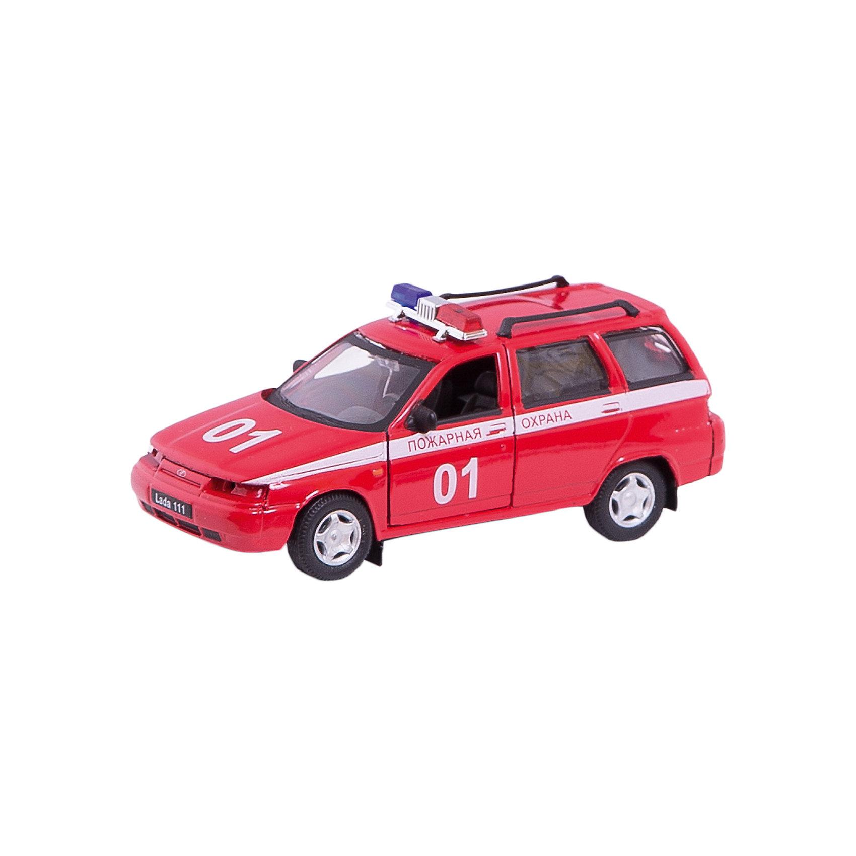 Машинка Lada 111 пожарная охрана 1:36, AutotimeМашинки<br>Характеристики товара:<br><br>• цвет: красный<br>• материал: металл, пластик<br>• размер: 16,5х7,х5,7 см<br>• вес: 100 г<br>• масштаб: 1:36<br>• прочный материал<br>• хорошая детализация<br>• открываются двери<br>• страна бренда: Россия<br>• страна производства: Китай<br><br>Коллекционная машинка LADA 111 пожарная охрана от бренда AUTOTIME станет отличным подарком для мальчика. Подробная детализация машинки порадует увлеченного коллекционера, а открывающиеся двери и свободно вращающиеся колеса придутся по душе юному владельцу игрушечного гаража. Эта игрушка подарит восторг и радость вашему ребенку. <br><br>Игрушка также воздействует на наглядно-образное мышление, логическое мышление, развивает мелкую моторику. Изделие выполнено из сертифицированных материалов, безопасных для детей.<br><br>Машинку «Lada 111» пожарная охрана от бренда AUTOTIME можно купить в нашем интернет-магазине.<br><br>Ширина мм: 165<br>Глубина мм: 57<br>Высота мм: 75<br>Вес г: 13<br>Возраст от месяцев: 36<br>Возраст до месяцев: 2147483647<br>Пол: Мужской<br>Возраст: Детский<br>SKU: 5583918
