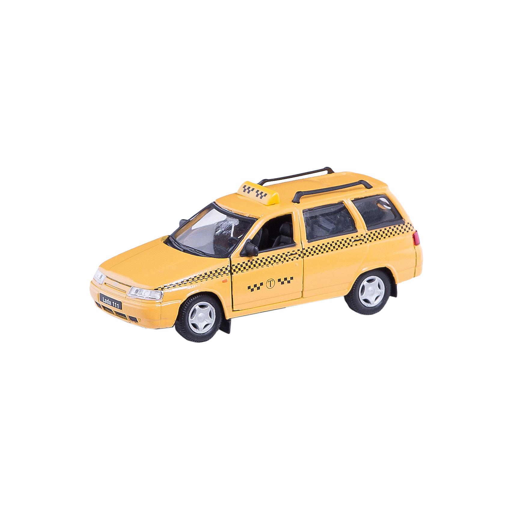Машинка Lada 111 такси 1:36, AutotimeМашинки<br>Характеристики товара:<br><br>• цвет: желтый<br>• материал: металл, пластик<br>• размер: 16,5х7,х5,7 см<br>• вес: 100 г<br>• масштаб: 1:36<br>• прочный материал<br>• хорошая детализация<br>• открываются двери<br>• страна бренда: Россия<br>• страна производства: Китай<br><br>Коллекционная машинка LADA 111 такси от бренда AUTOTIME станет отличным подарком для мальчика. Подробная детализация машинки порадует увлеченного коллекционера, а открывающиеся двери и свободно вращающиеся колеса придутся по душе юному владельцу игрушечного гаража. Эта игрушка подарит восторг и радость вашему ребенку. <br><br>Игрушка также воздействует на наглядно-образное мышление, логическое мышление, развивает мелкую моторику. Изделие выполнено из сертифицированных материалов, безопасных для детей.<br><br>Машинку «Lada 111» такси от бренда AUTOTIME можно купить в нашем интернет-магазине.<br><br>Ширина мм: 165<br>Глубина мм: 57<br>Высота мм: 75<br>Вес г: 13<br>Возраст от месяцев: 36<br>Возраст до месяцев: 2147483647<br>Пол: Мужской<br>Возраст: Детский<br>SKU: 5583922