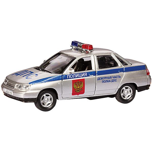 Машинка Lada 110 полиция 1:36, AutotimeМашинки<br>Характеристики товара:<br><br>• цвет: серебро<br>• материал: металл, пластик<br>• размер: 16,5х7,х5,7 см<br>• вес: 100 г<br>• масштаб: 1:36<br>• прочный материал<br>• хорошая детализация<br>• открываются двери<br>• страна бренда: Россия<br>• страна производства: Китай<br><br>Коллекционная машинка LADA 110 полиция от бренда AUTOTIME станет отличным подарком для мальчика. Подробная детализация машинки порадует увлеченного коллекционера, а открывающиеся двери и свободно вращающиеся колеса придутся по душе юному владельцу игрушечного гаража. Эта игрушка подарит восторг и радость вашему ребенку. <br><br>Игрушка также воздействует на наглядно-образное мышление, логическое мышление, развивает мелкую моторику. Изделие выполнено из сертифицированных материалов, безопасных для детей.<br><br>Машинку «Lada 110» полиция от бренда AUTOTIME можно купить в нашем интернет-магазине.<br>Ширина мм: 165; Глубина мм: 57; Высота мм: 75; Вес г: 13; Возраст от месяцев: 36; Возраст до месяцев: 2147483647; Пол: Мужской; Возраст: Детский; SKU: 5583926;