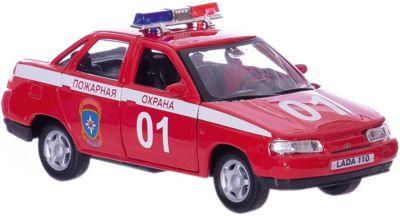 Машинка Lada 110 пожарная охрана 1:36, Autotime